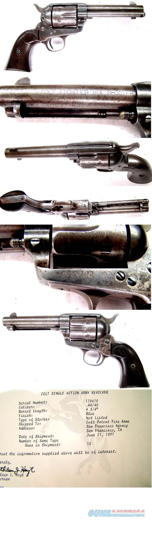 Colt SAA 44-40   interesting letter  Guns > Pistols > Colt Single Action Revolvers - 1st Gen.