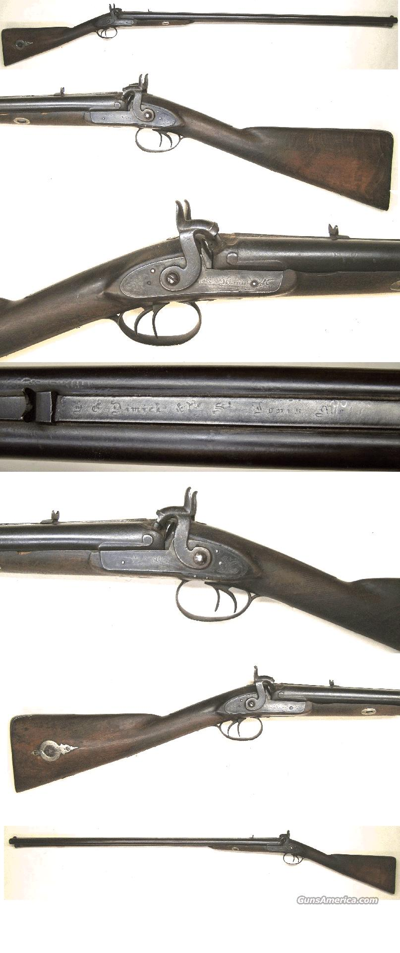 H.E. Dimick St Louis Rifle Shotgun combo  Guns > Rifles > Antique (Pre-1899) Rifles - Perc. Misc.