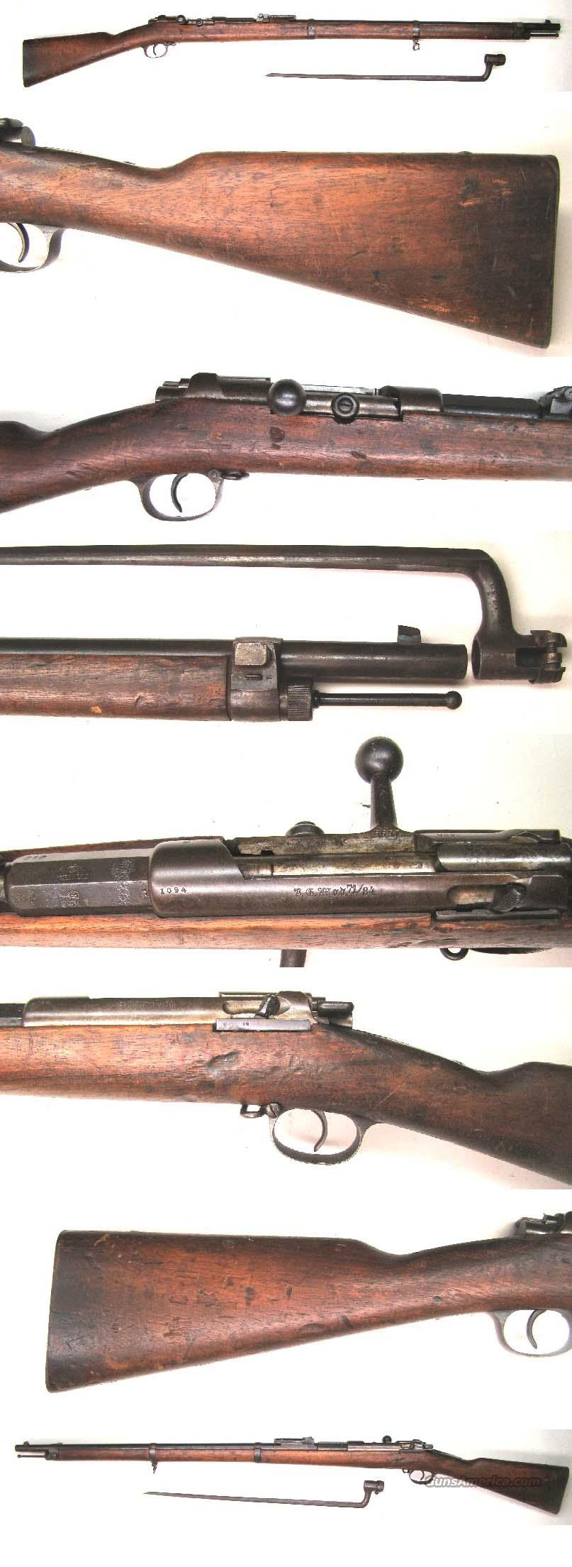 Mauser Model 71/84 Rifle w/bayonet  Guns > Rifles > Military Misc. Rifles Non-US > Other
