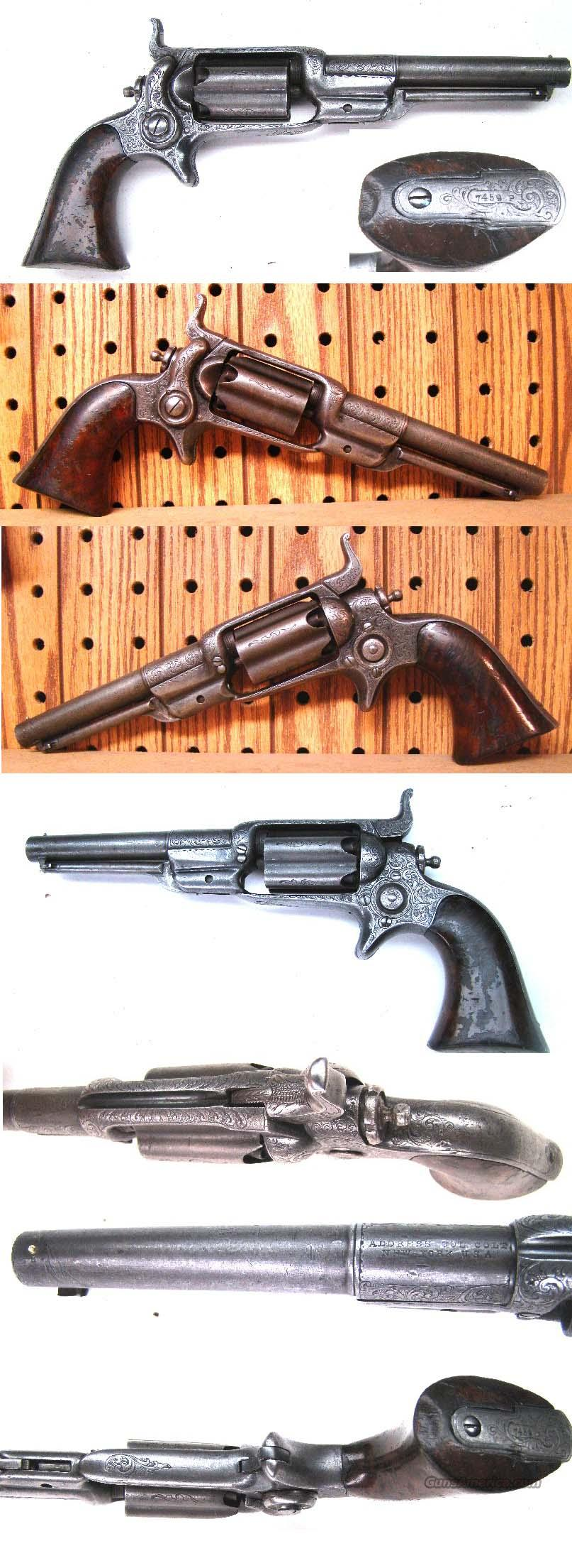 Colt Root Factory Engraved  Guns > Pistols > Colt Percussion Revolver - Pre-1899