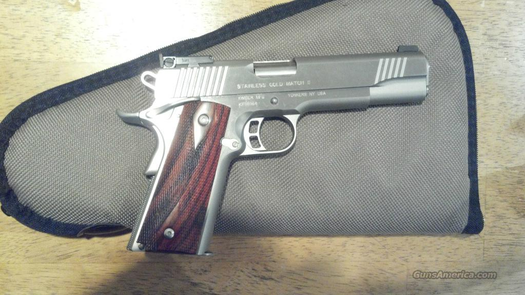 kimber Stainless Goldmatch 9mm  Price Reduced  Guns > Pistols > 1911 Pistol Copies (non-Colt)