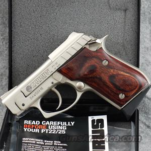 Taurus PT25 .25 ACP Pistol, Stainless Finish, Rosewood Grips - LIKE NEW IN BOX!  Guns