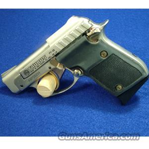 Taurus PT22 .22LR Pistol, Nickel with Gold Accents and Aftermarket Rubber Grips - USED IN EXCELLENT CONDITION!  Guns