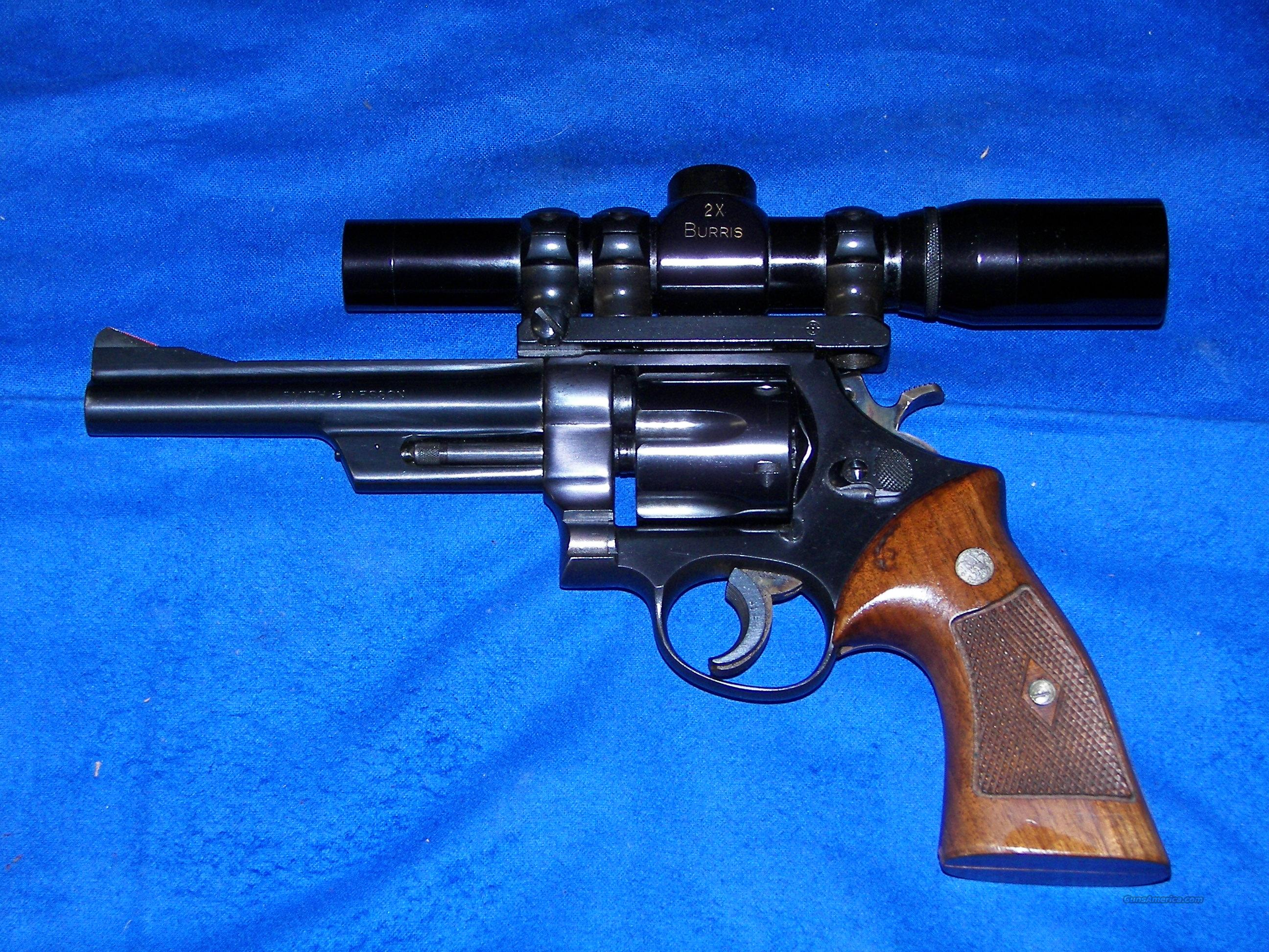 S & W MODEL 28 -2 .357 MAGNUM W/ BURRIS SCOPE  Guns > Pistols > Smith & Wesson Revolvers > Full Frame Revolver