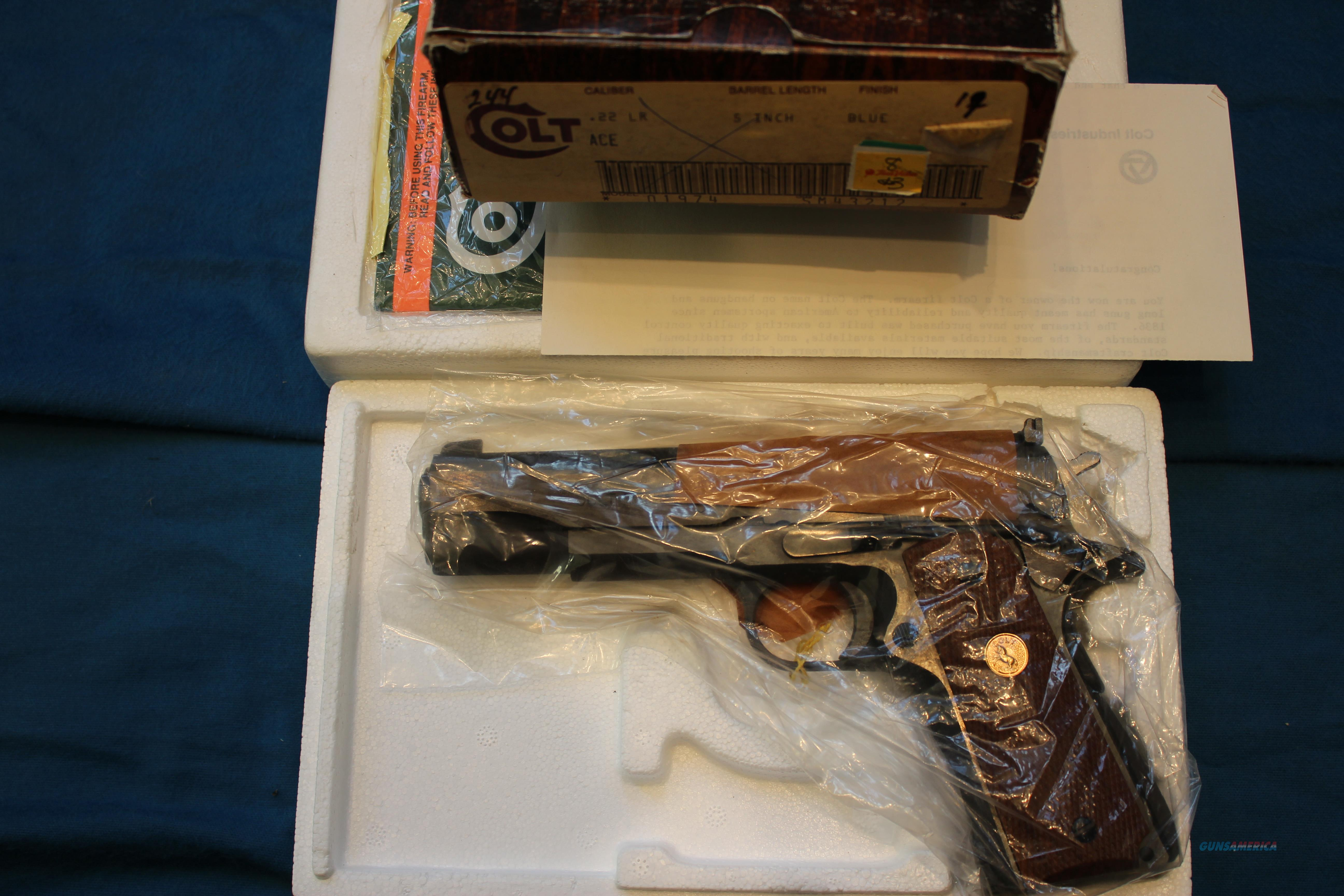 COLT ACE  .22 LR NEW IN THE BOX   Guns > Pistols > Colt Automatic Pistols (1911 & Var)