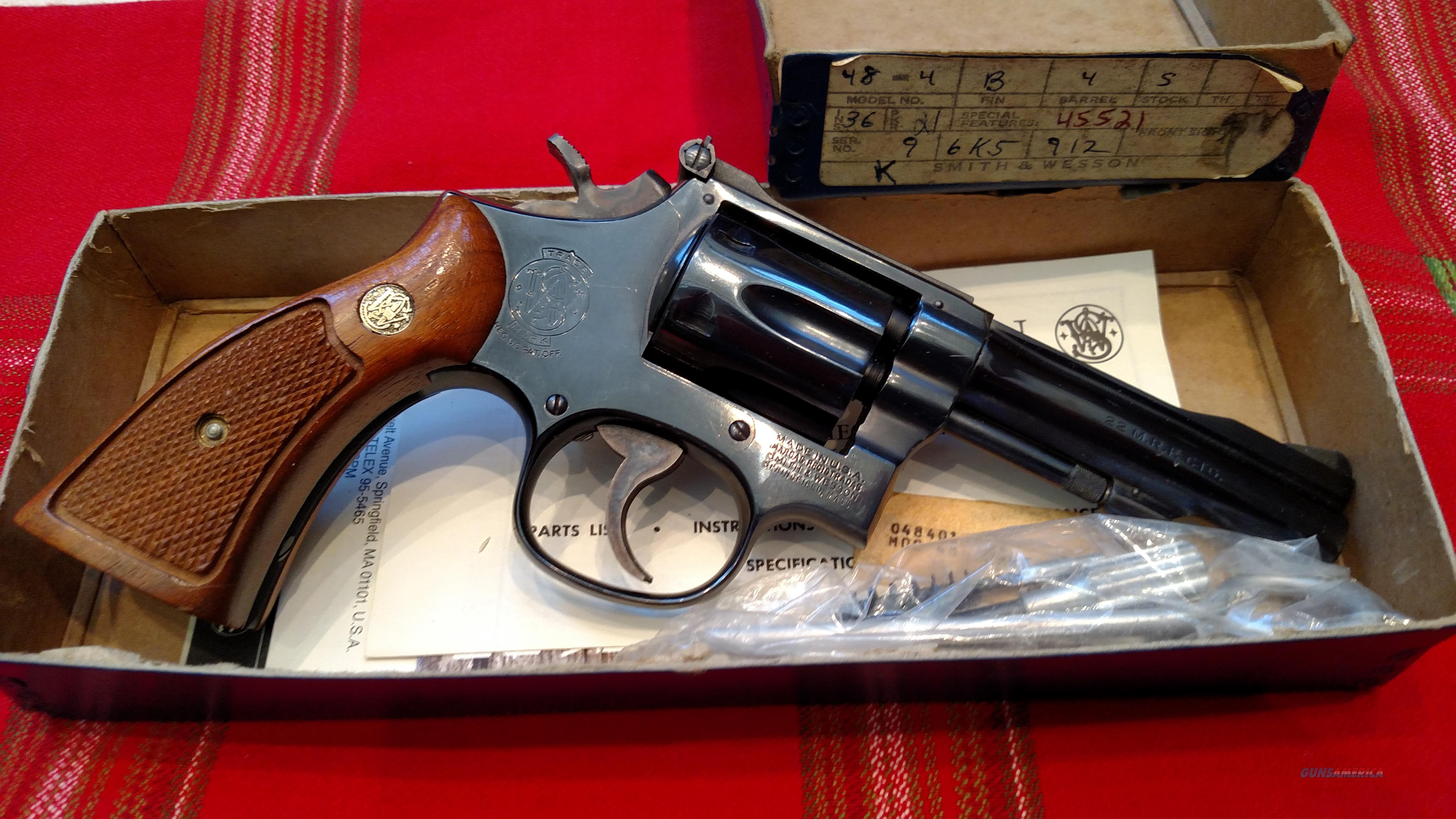 "S&W 48-4 .22 MAGNUM 4"" BBL W/ BOX  Guns > Pistols > Smith & Wesson Revolvers > Full Frame Revolver"