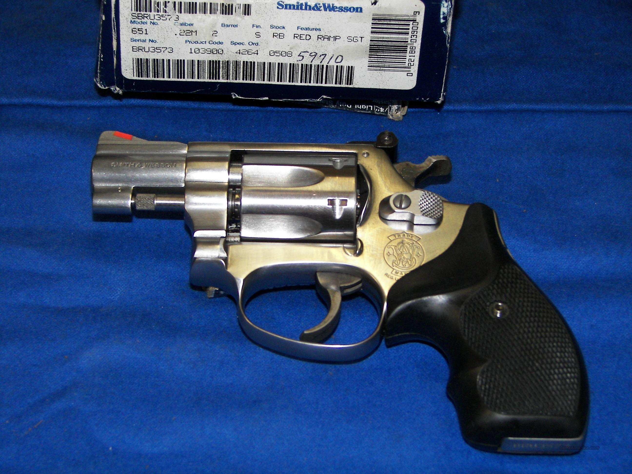 Sale Pending S Amp W 651 1 22 Mag 2 Quot Kit Gun For Sale