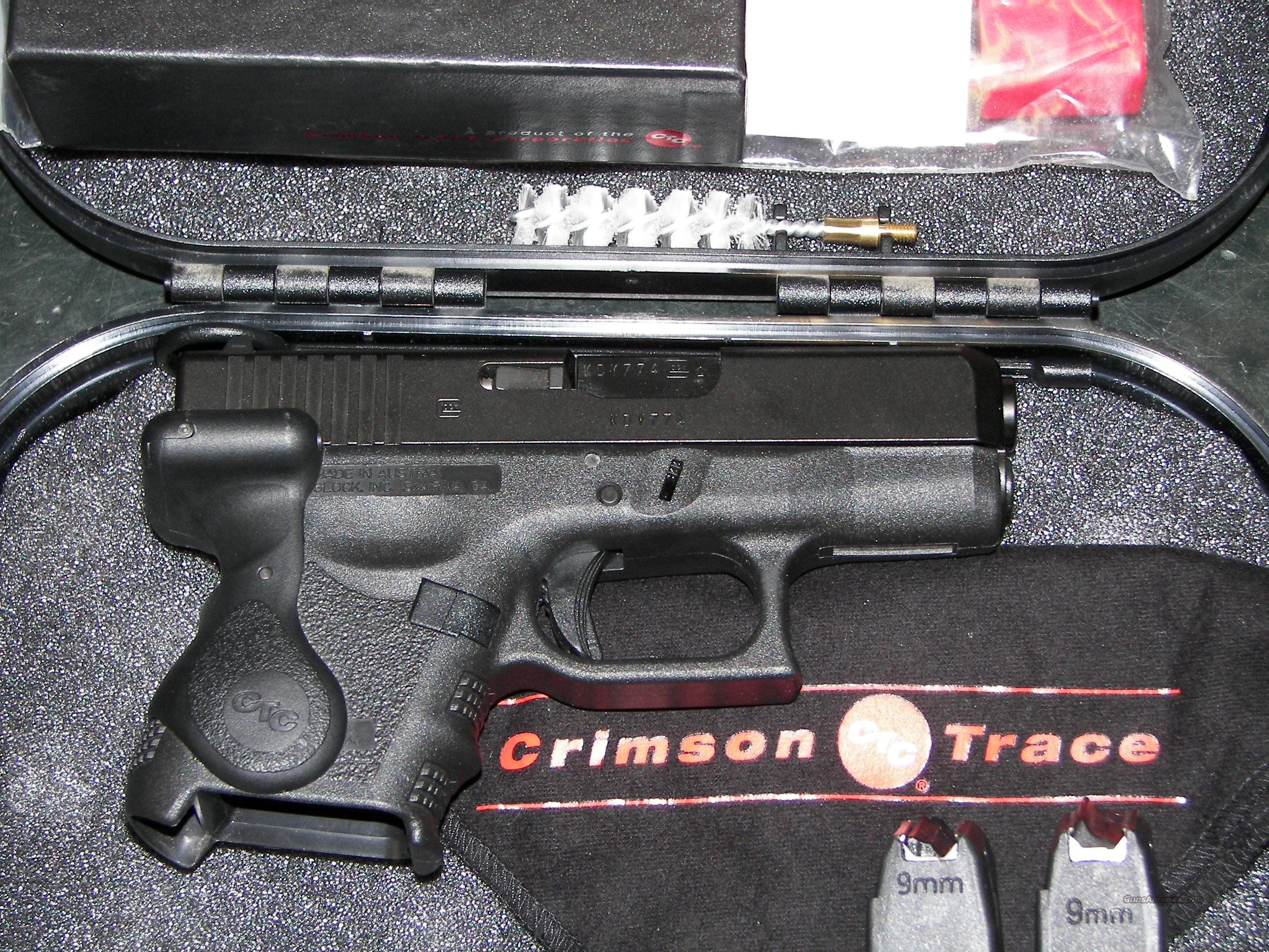 GLOCK MODEL 26 9MM   W/ CRIMSON TRACE LASERGRIP  Guns > Pistols > Glock Pistols > 26/27