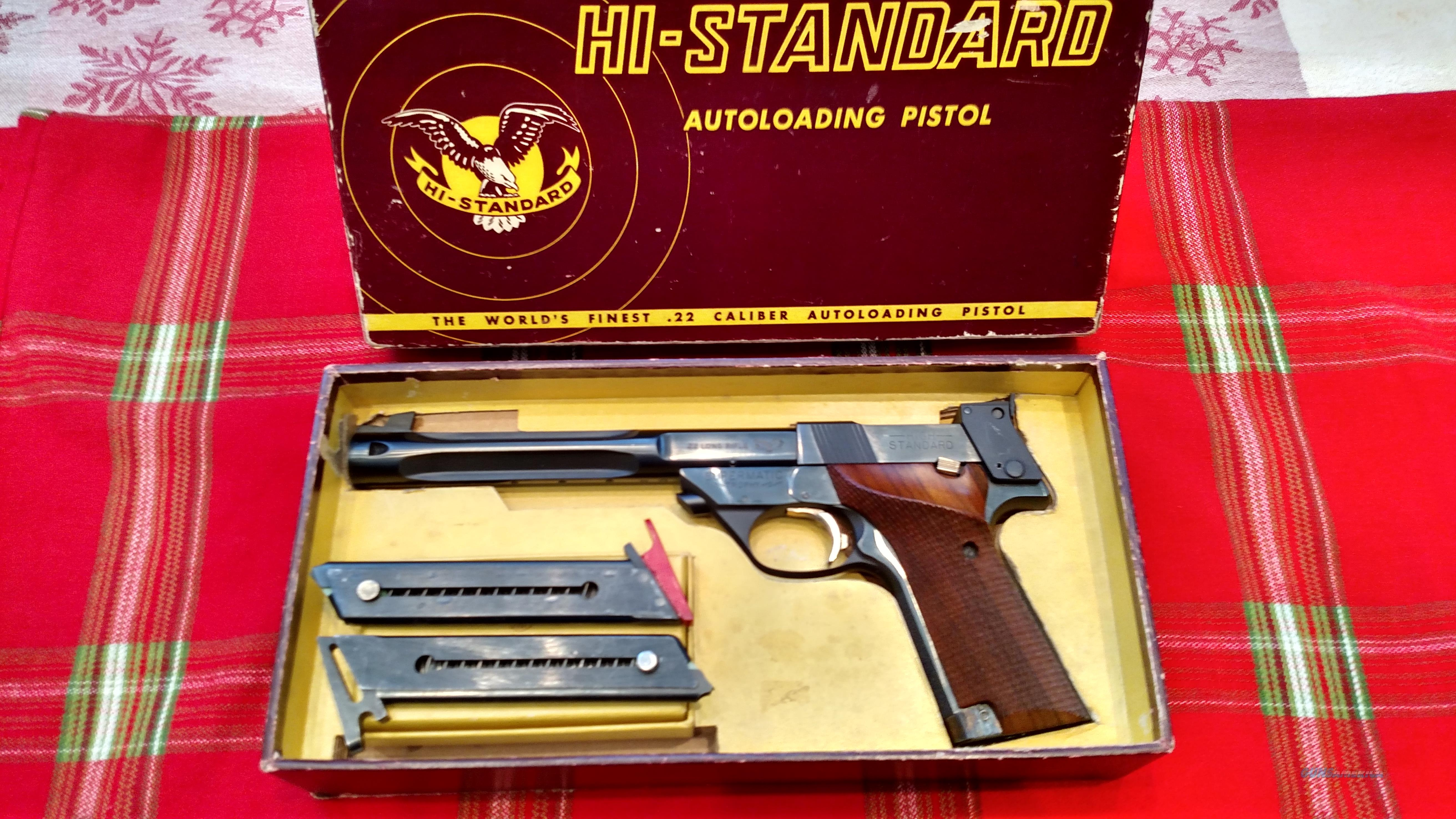 "HIGH STANDARD SUPERMATIC TROPHY MODEL 106 MILITARY 7 1/4"" FLUTED W/ BOX  Guns > Pistols > High Standard Pistols"