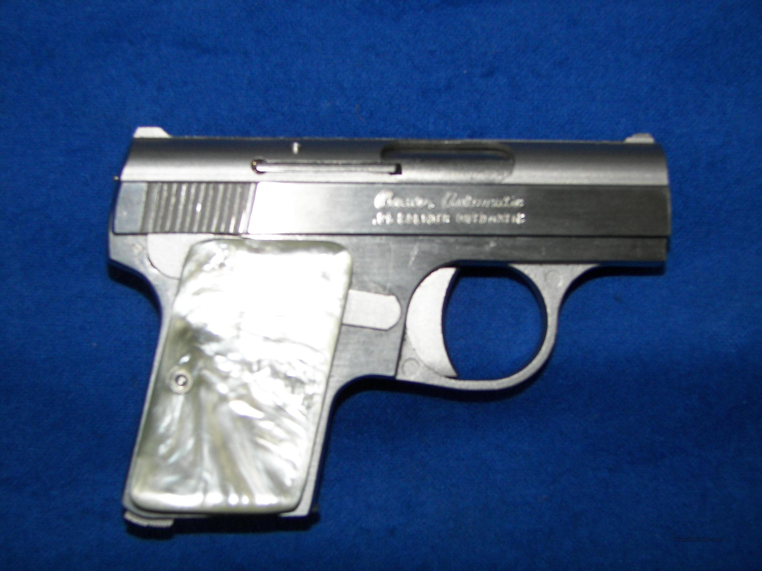 BAUER .25 ACP AUTO STNLS PEARLITE  AS-NEW  Guns > Pistols > Bauer Pistols