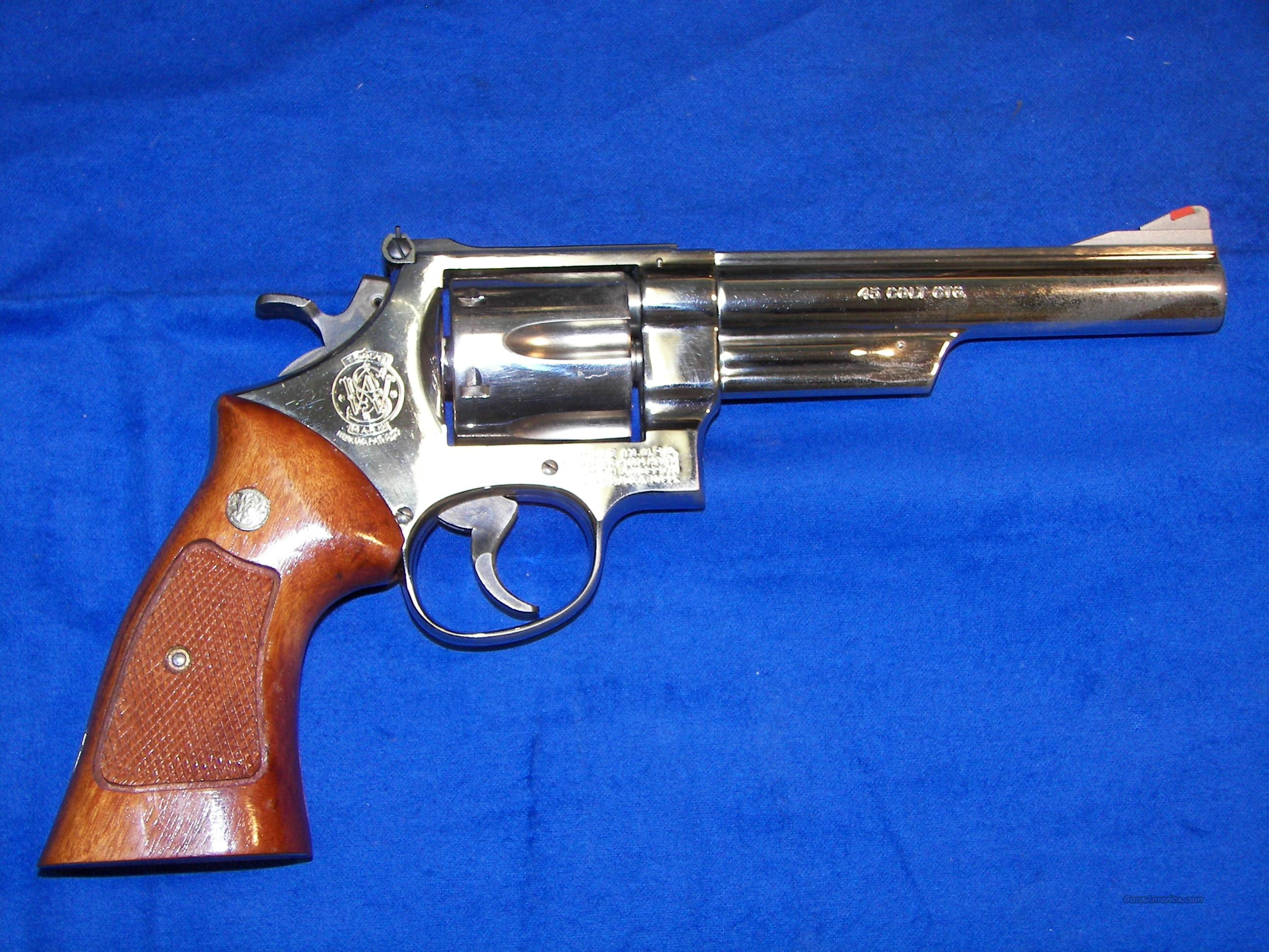 "SMITH & WESSON  25-5   45 COLT  6""  NICKEL  Guns > Pistols > Smith & Wesson Revolvers > Full Frame Revolver"