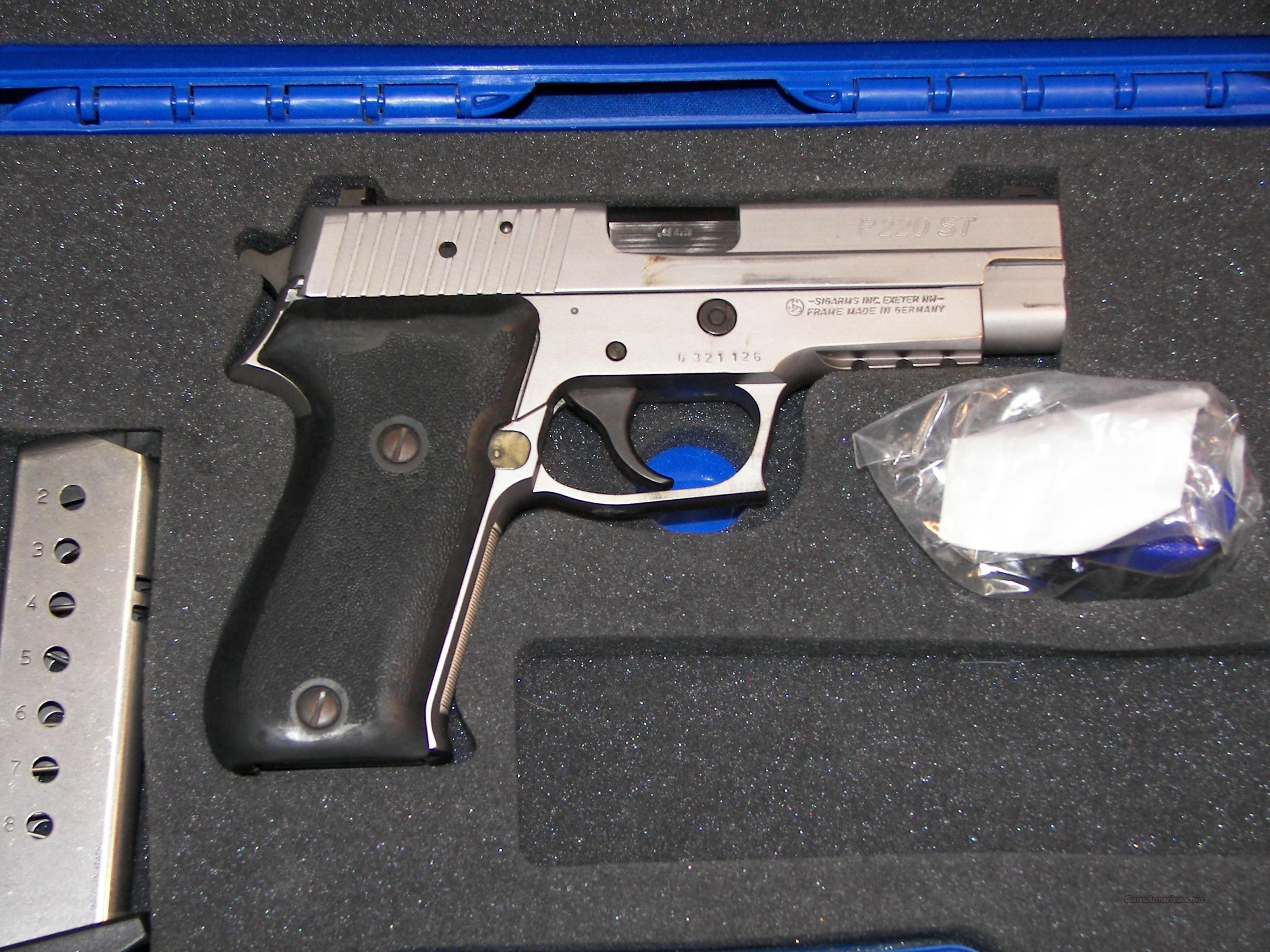SIGARMS P220 ST  .45ACP  STAINLESS  Guns > Pistols > Sig - Sauer/Sigarms Pistols > P220