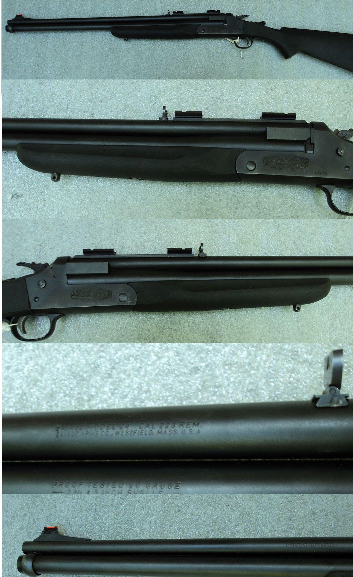 Savage 24 Combination Gun 223/20 Ga  Guns > Shotguns > Parker Shotguns