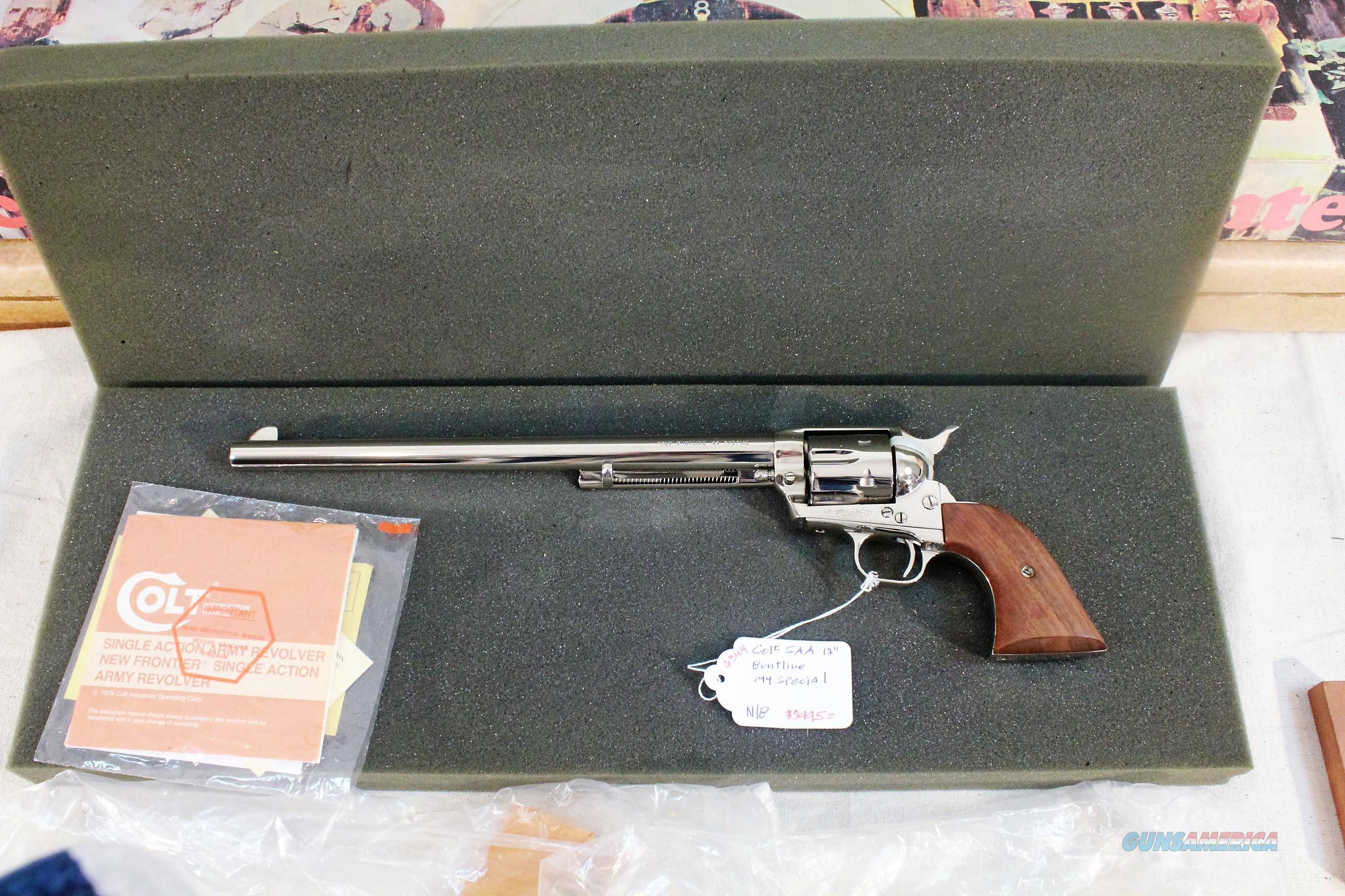 "Colt SAA Buntline 12"" Nickle, New, Unfied, in factory padded box  Guns > Pistols > Colt Single Action Revolvers - 3rd Gen."