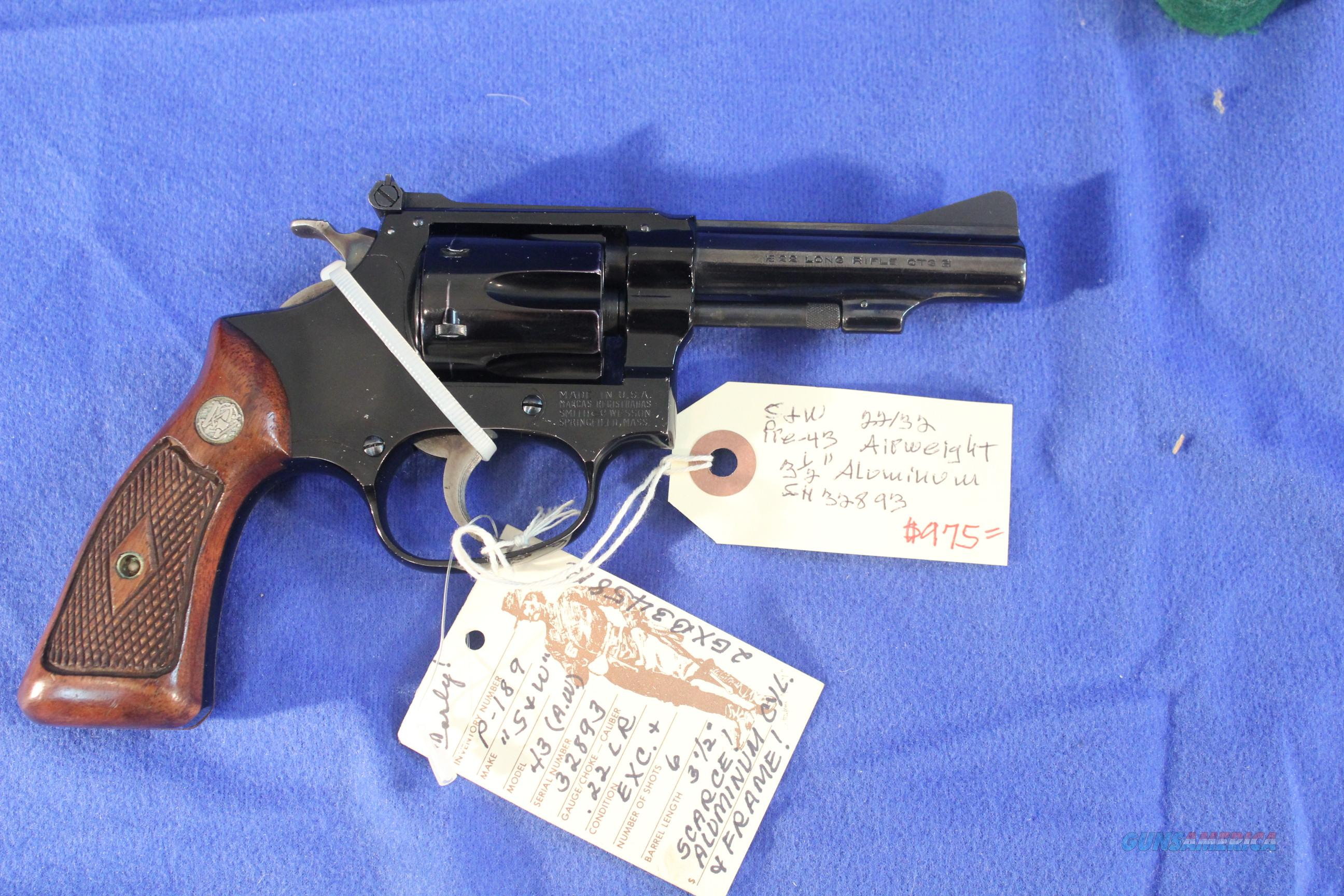 Early Smith & Wesson 22/32 predecessor to the Model 43 with Aluminum Frame and Cylinder  Guns > Pistols > Smith & Wesson Revolvers > Pocket Pistols
