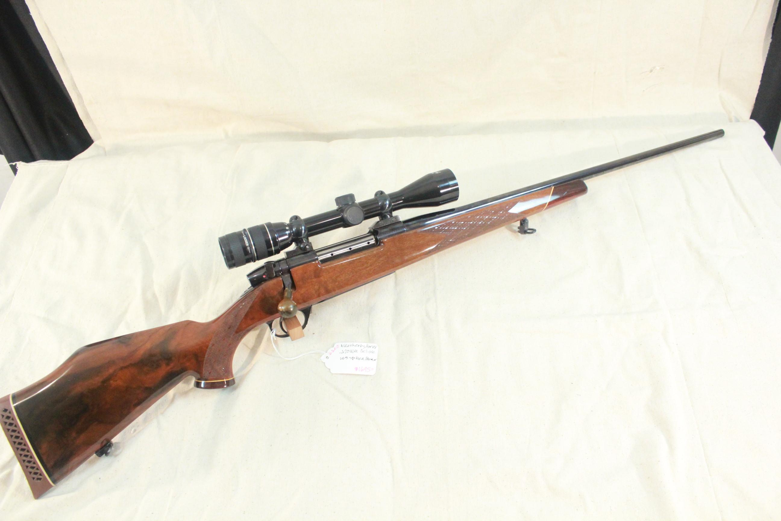 Weatherby Mark V Deluxe in .270 WM w/3-9x Weatherby Premier scope  Guns > Rifles > Weatherby Rifles > Sporting