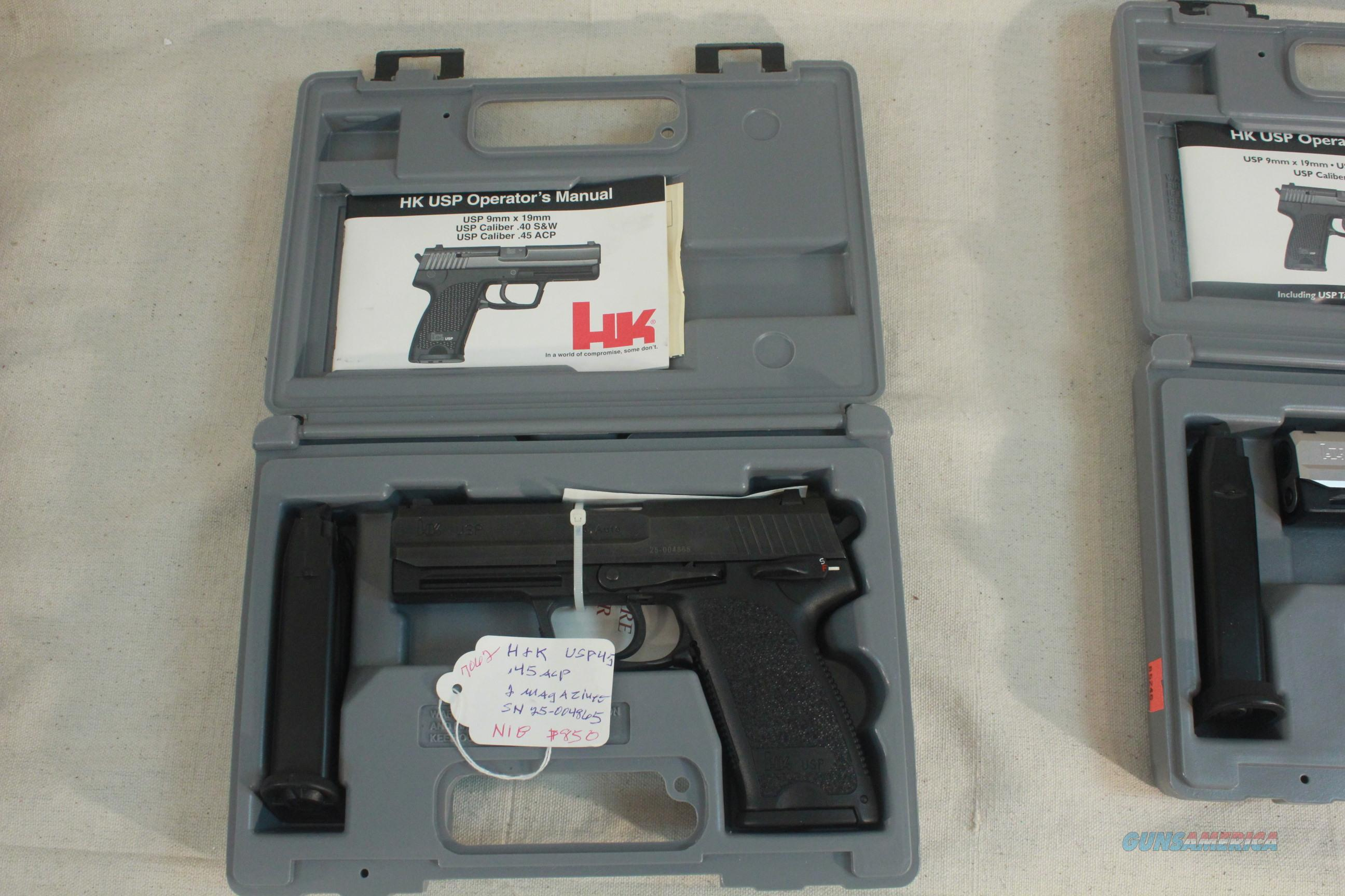 Heckler & Koch USP .45acp, 2-magazines, New in the Box with all papers  Guns > Pistols > Heckler & Koch Pistols > SteelFrame