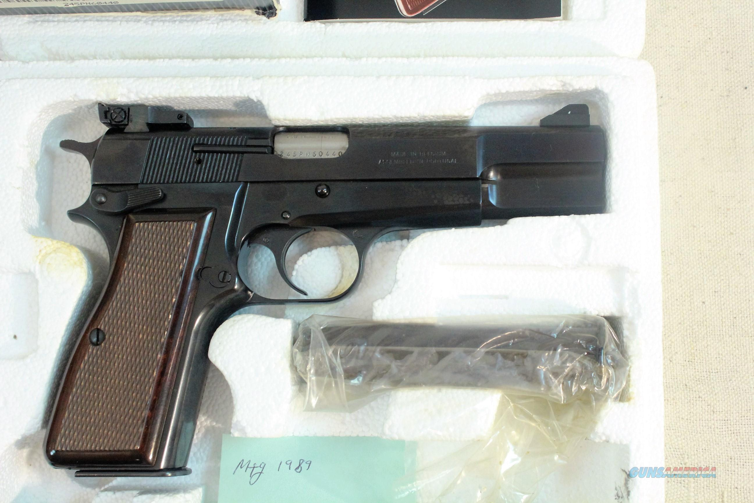 Browning High Power 9mm with Factory Adjustable Sights New in Box  Guns > Pistols > Browning Pistols > Hi Power