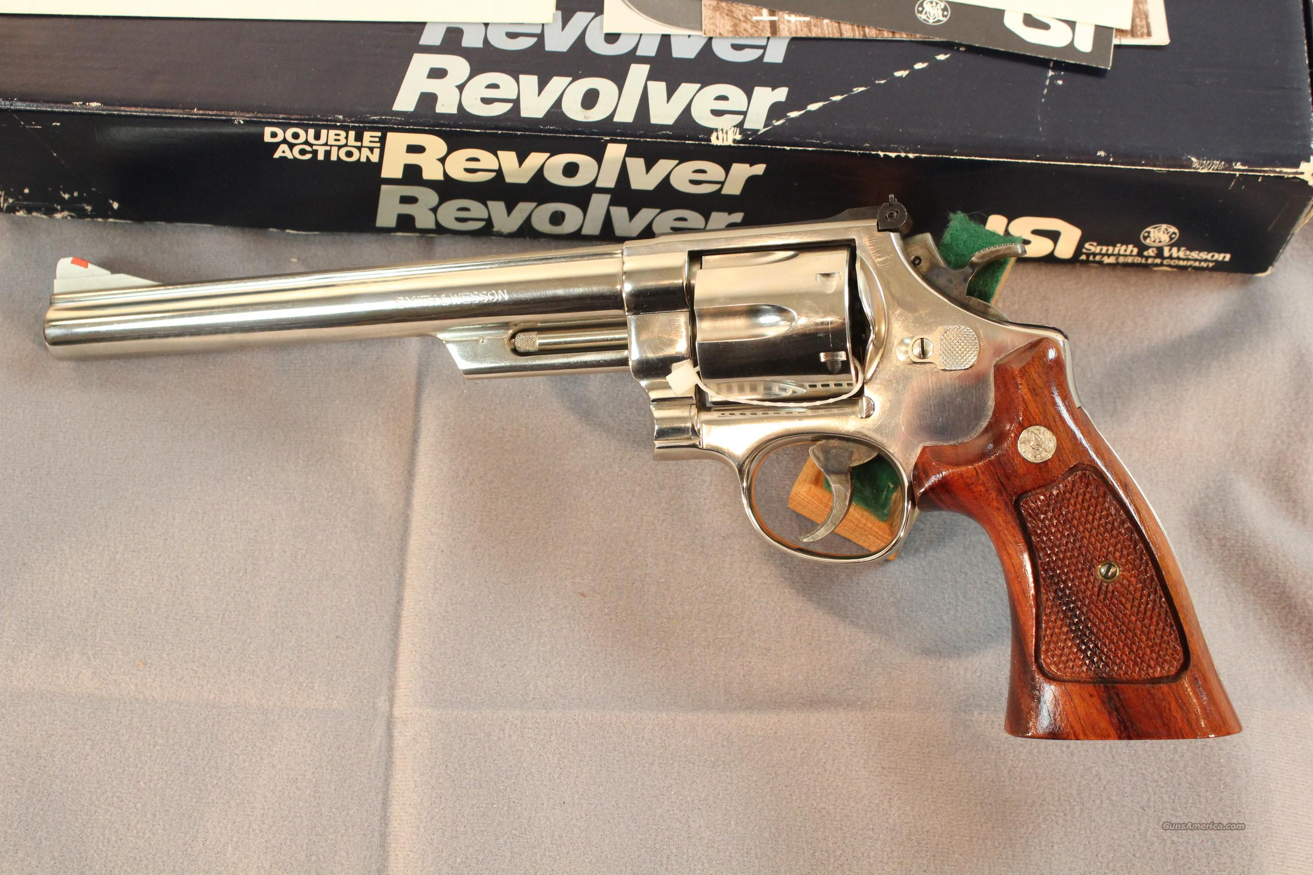 "Smith & Wesson Model 25-5 Nickel, 8-3/8"" NIB  Guns > Pistols > Smith & Wesson Revolvers > Full Frame Revolver"