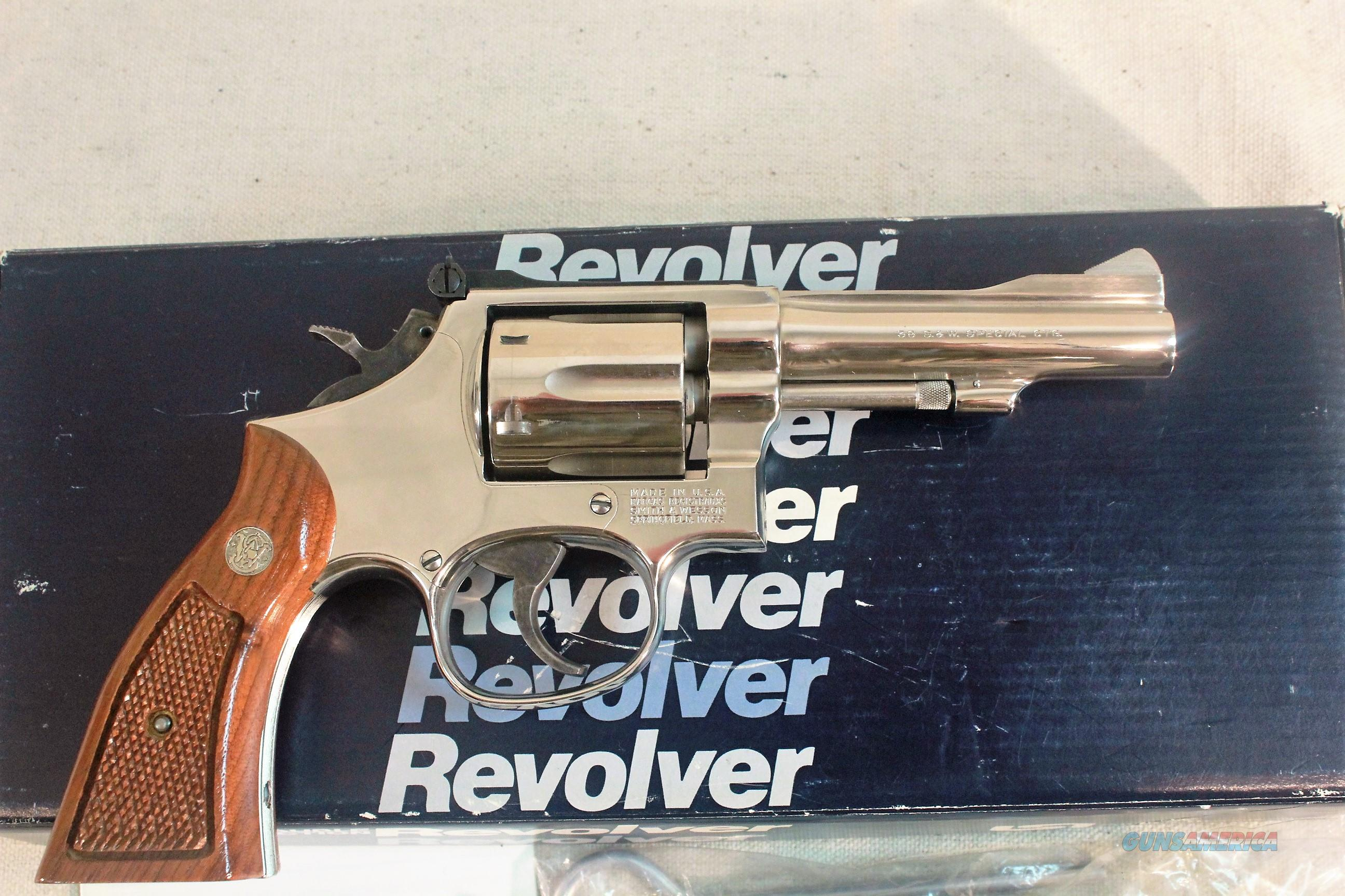 "Smith & Wesson Model 15-4, .38 Special, 4"" Nickel with Original Box  Guns > Pistols > Smith & Wesson Revolvers > Med. Frame ( K/L )"