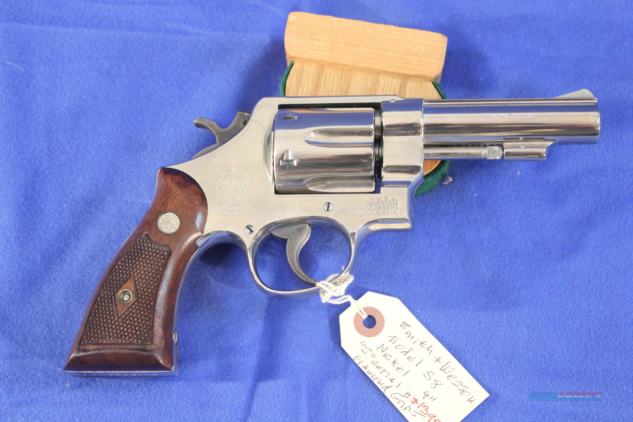 "Smith & Wesson Model 58 Nickel 4"" Rare and Minty  Guns > Pistols > Smith & Wesson Revolvers > Full Frame Revolver"