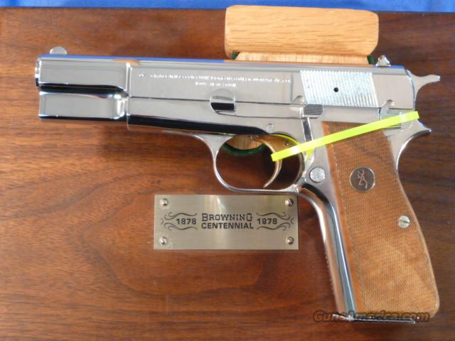 Browning Centennial High Power 9mm Nickel  Guns > Pistols > Browning Pistols > Hi Power