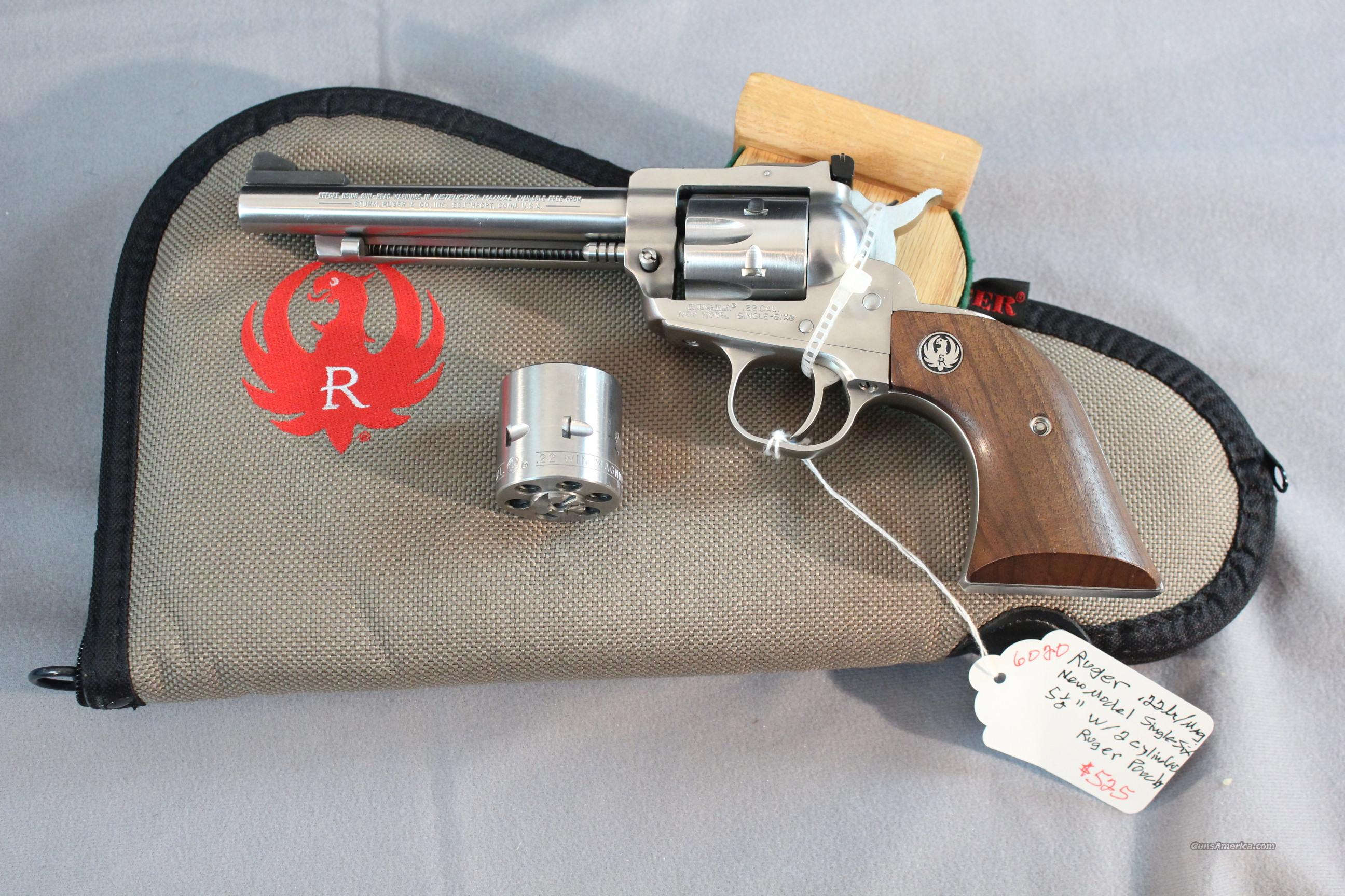 "Ruger Single-Six 5-1/2"" Stainless Steel .22lr/mag  Guns > Pistols > Ruger Single Action Revolvers > Single Six Type"