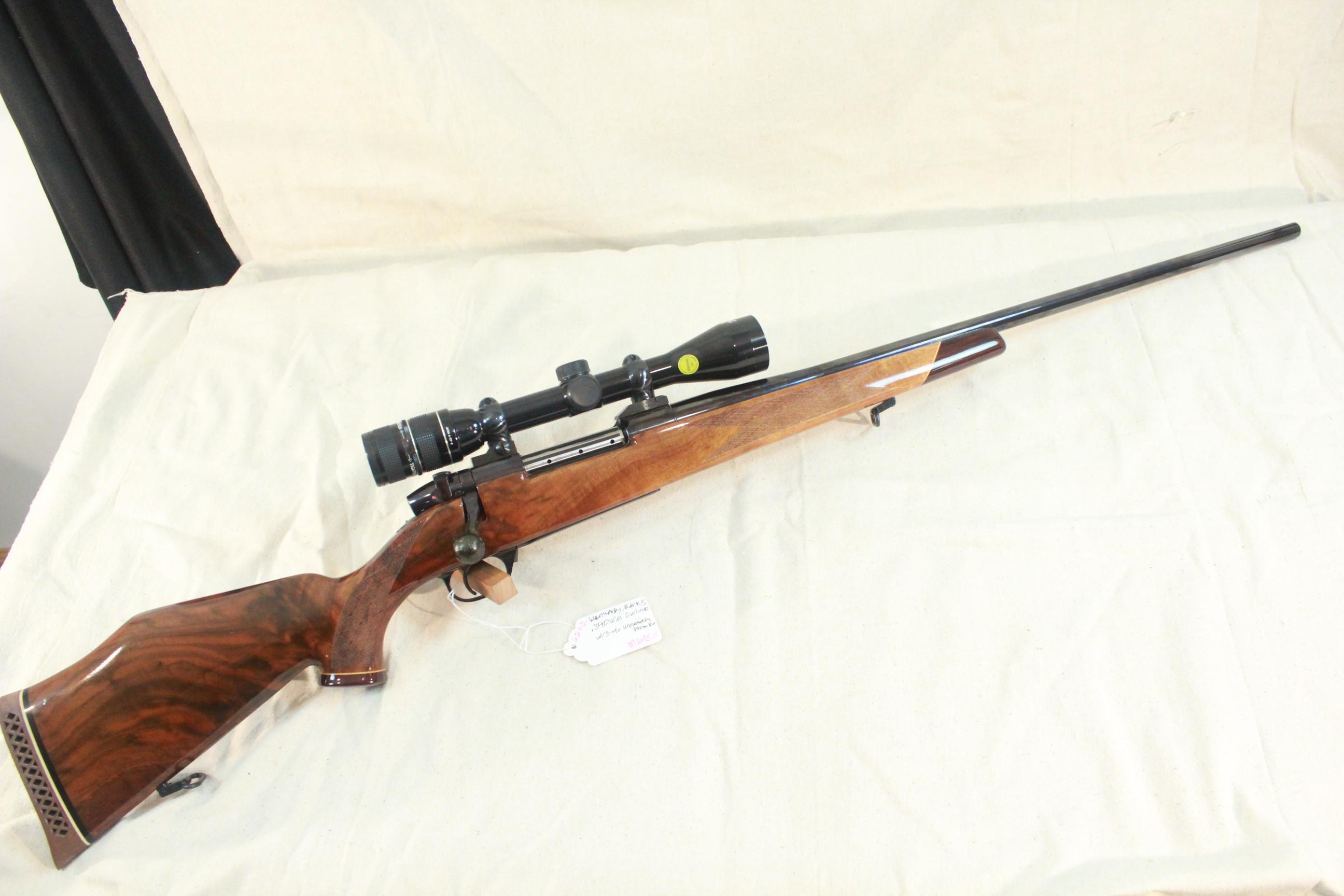 "Weatherby Mark V Deluxe in .340 WM 26"" w/3-9x Weatherby Premier Duplex scope  Guns > Rifles > Weatherby Rifles > Sporting"