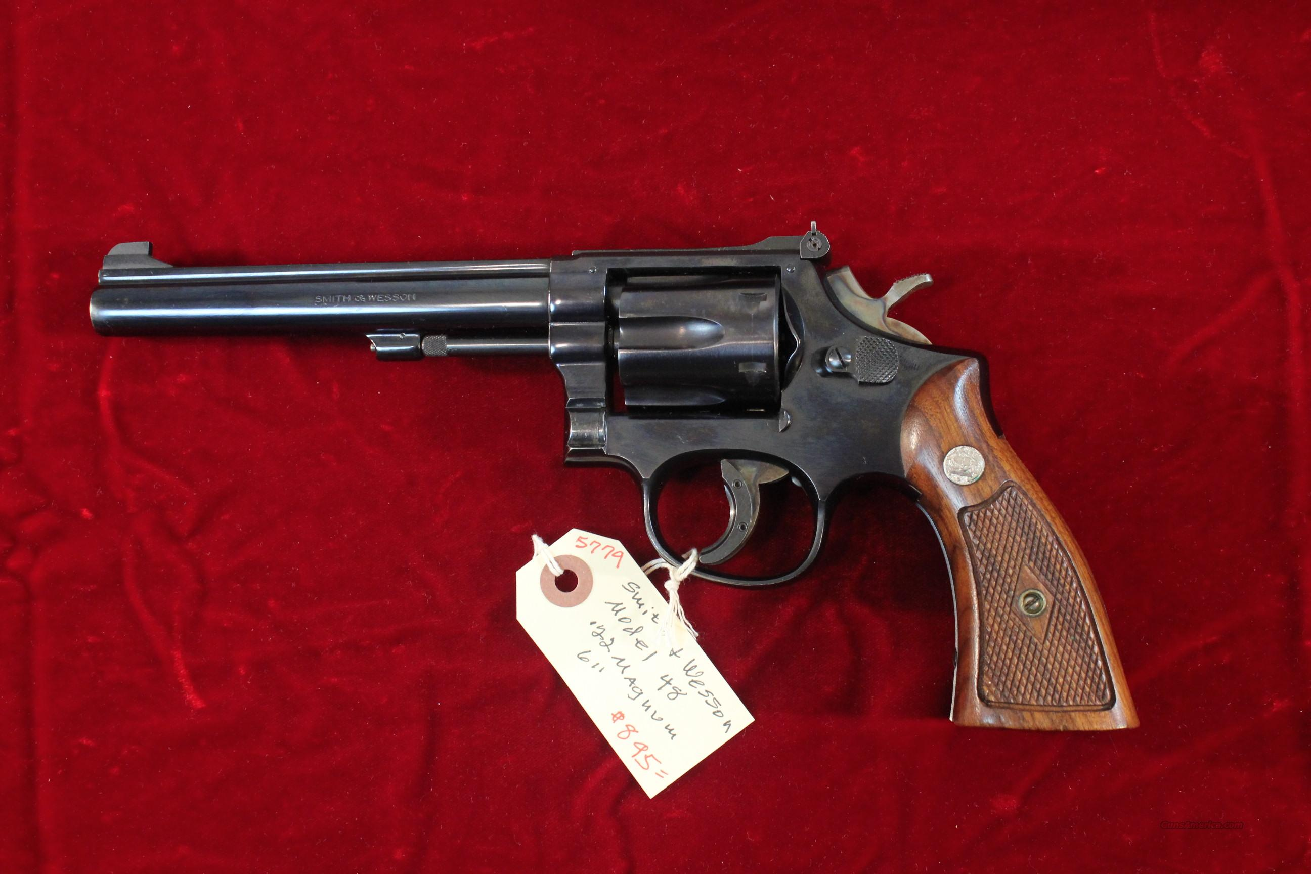 "Smith & Wesson Model 48 6"" .22 magnum  Guns > Pistols > Smith & Wesson Revolvers > Full Frame Revolver"