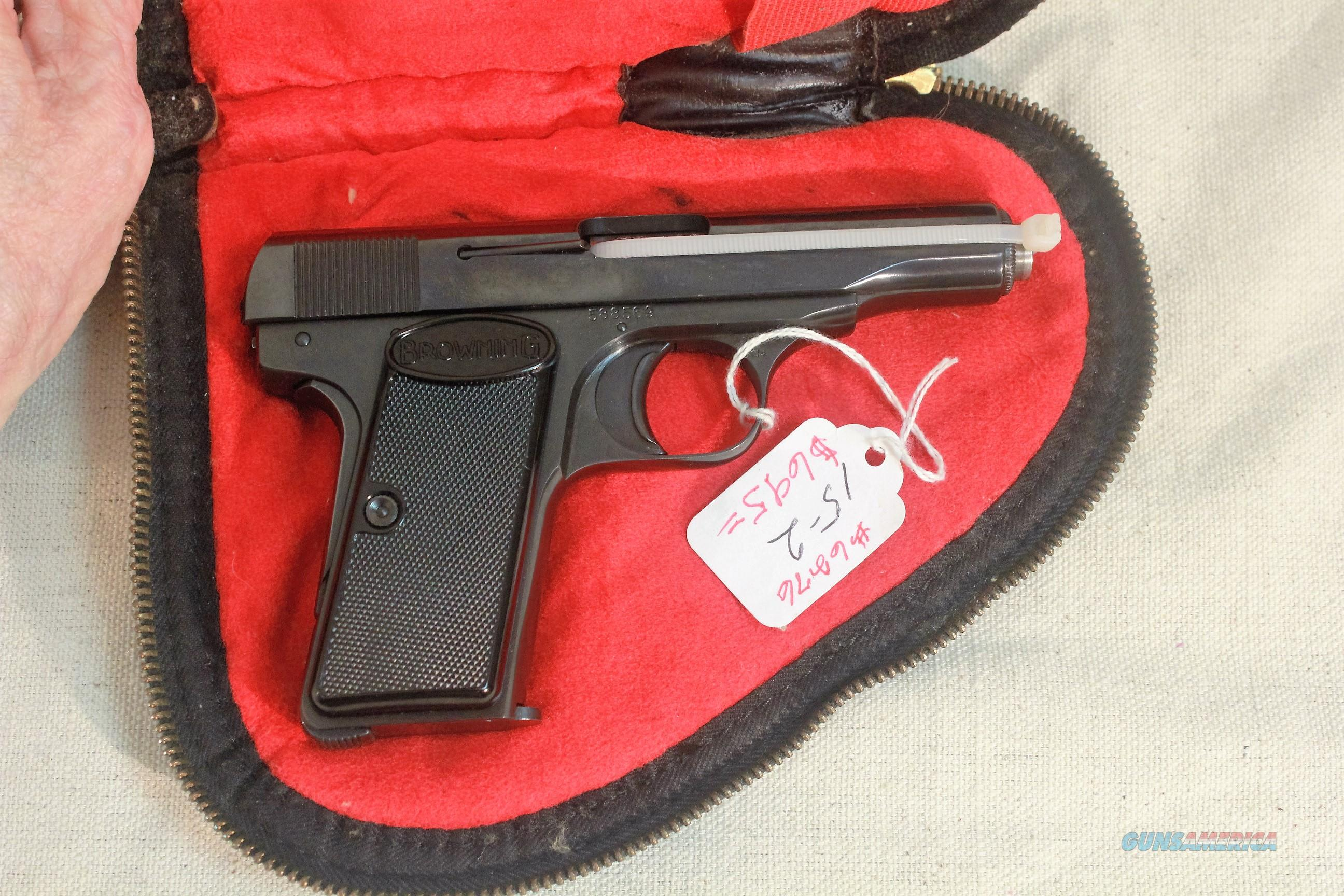 Browning Model 1955 in .380 acp with Factory Felt lined, brass zippered case  Guns > Pistols > Browning Pistols > Other Autos