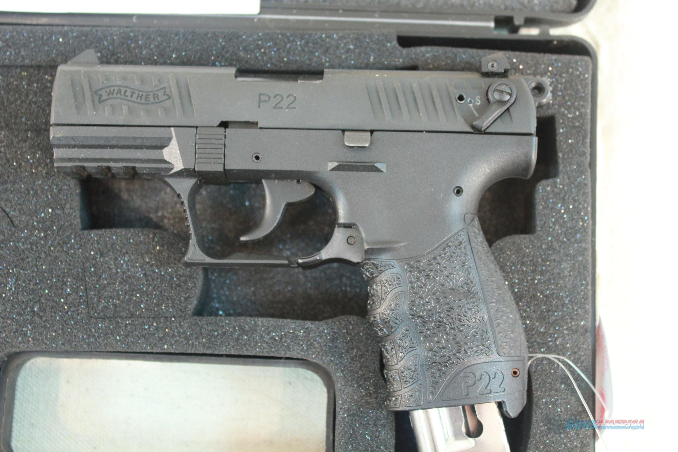 Walther P22 .22lr, Like New in the case with 2 Magazines  Guns > Pistols > Walther Pistols > Post WWII > P22