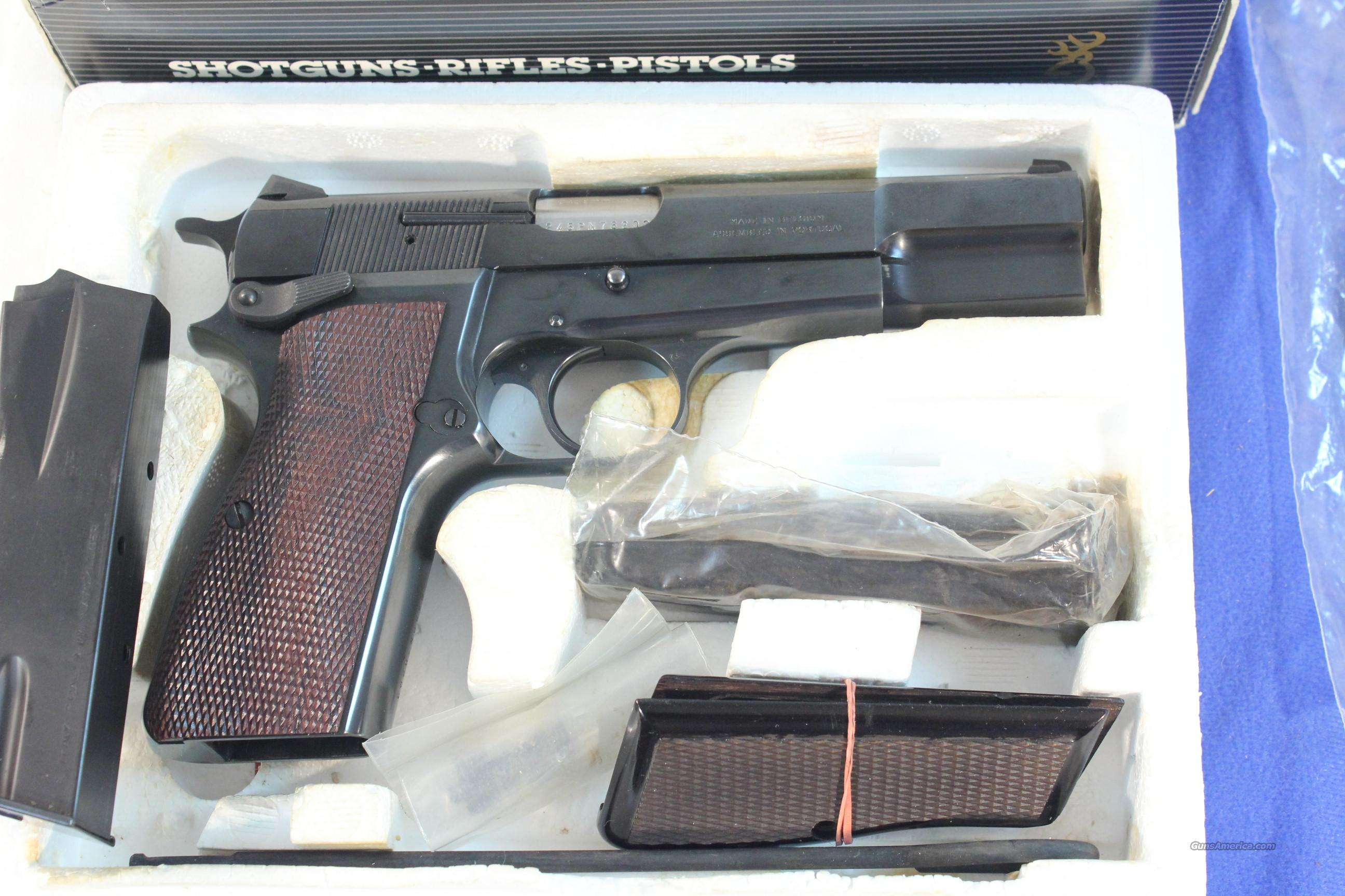 Browning High Power 9mm Gloss Blue  Guns > Pistols > Browning Pistols > Hi Power