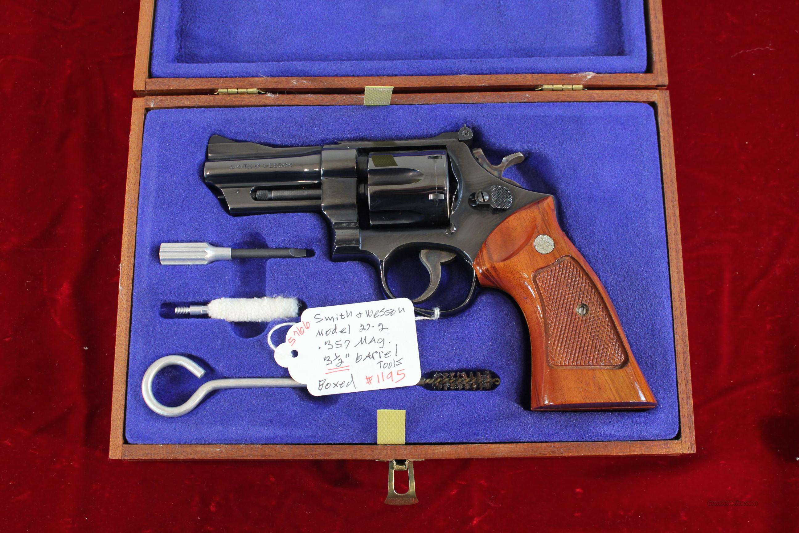 "Smith & Wesson Model 27-2, 3-1/2"" .357 Magnum, Cased  Guns > Pistols > Smith & Wesson Revolvers > Full Frame Revolver"
