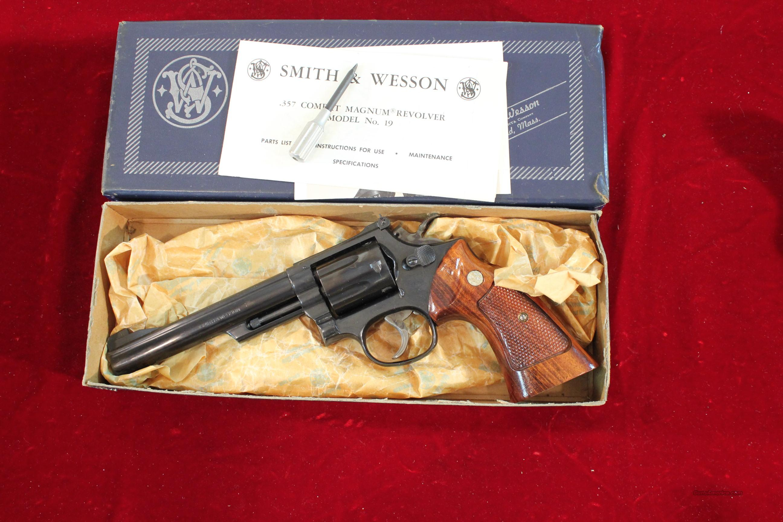 "Smith & Wesson Model 19-3 .357 Mag. 6"" boxed  Guns > Pistols > Smith & Wesson Revolvers > Full Frame Revolver"