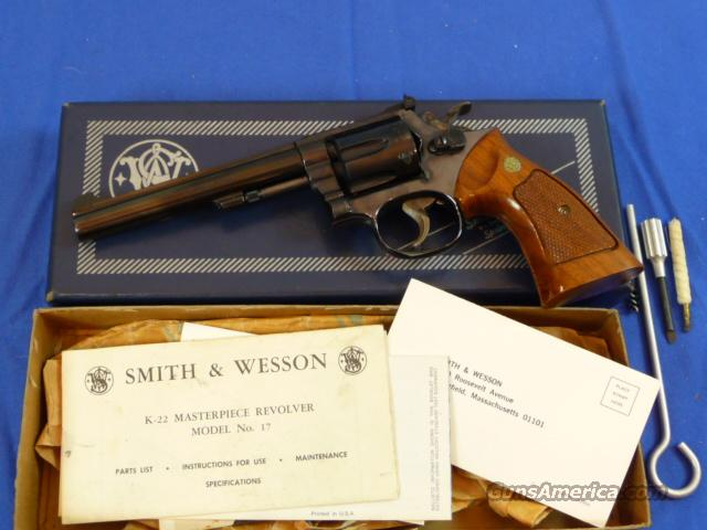 Smith & Wesson Model 17-3 K-22 Masterpiece  Guns > Pistols > Smith & Wesson Revolvers > Full Frame Revolver