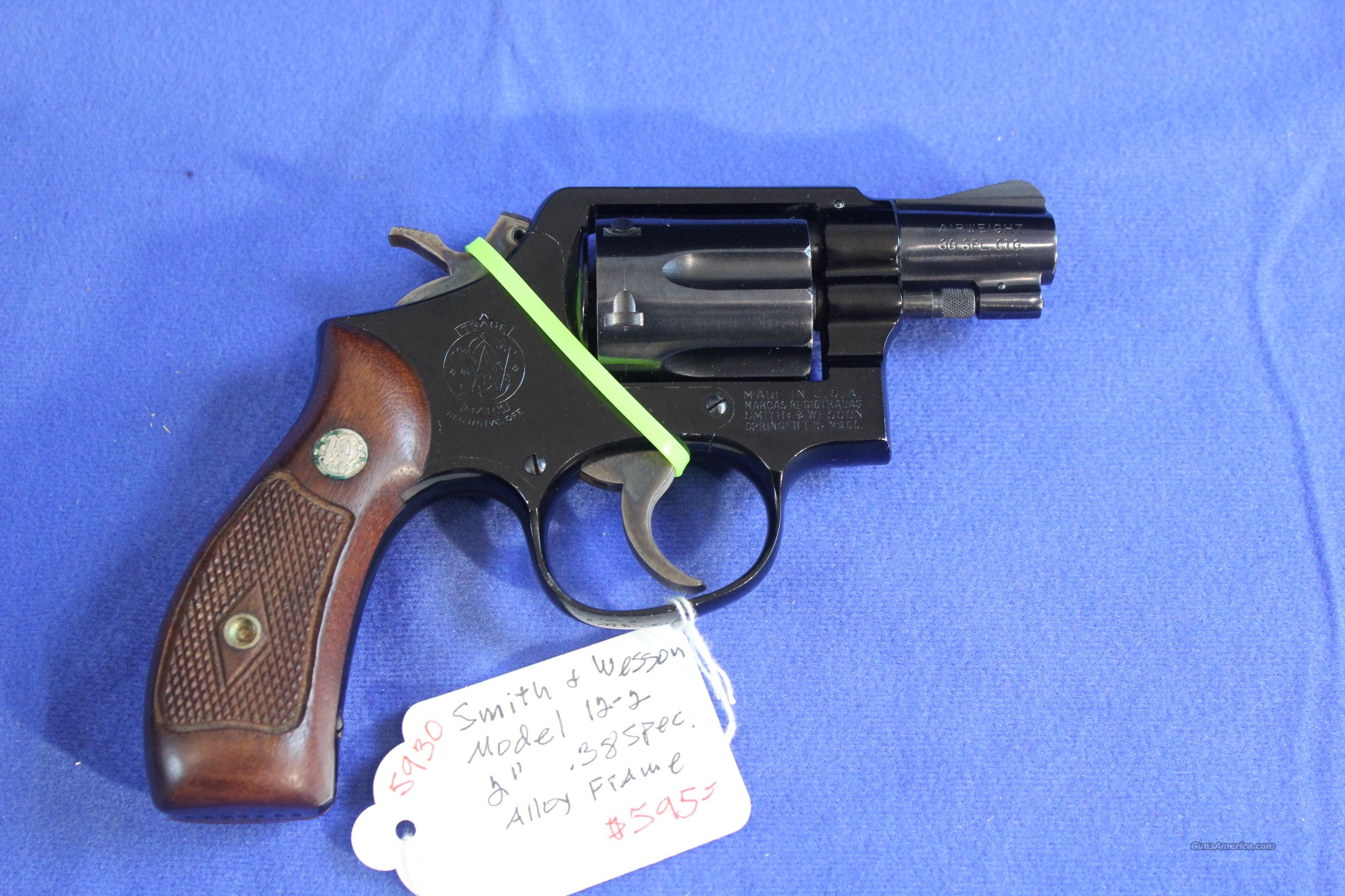 "Smith & Wesson Model 12-2 Early .38 Special 2""  Guns > Pistols > Smith & Wesson Revolvers > Full Frame Revolver"