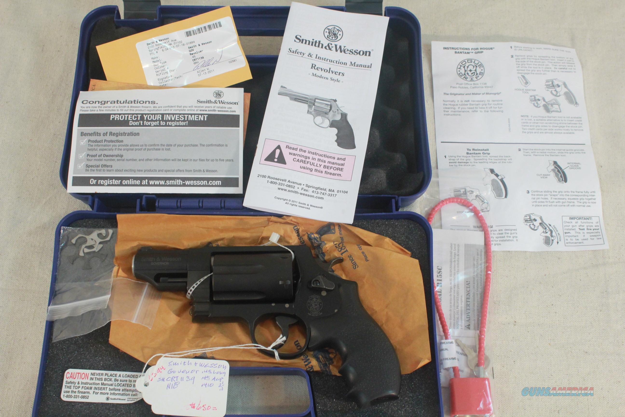 Smith & Wesson Govenor Model, .45 Colt, .45acp, .410 shotshells, New in the Box  Guns > Pistols > Smith & Wesson Revolvers > Full Frame Revolver
