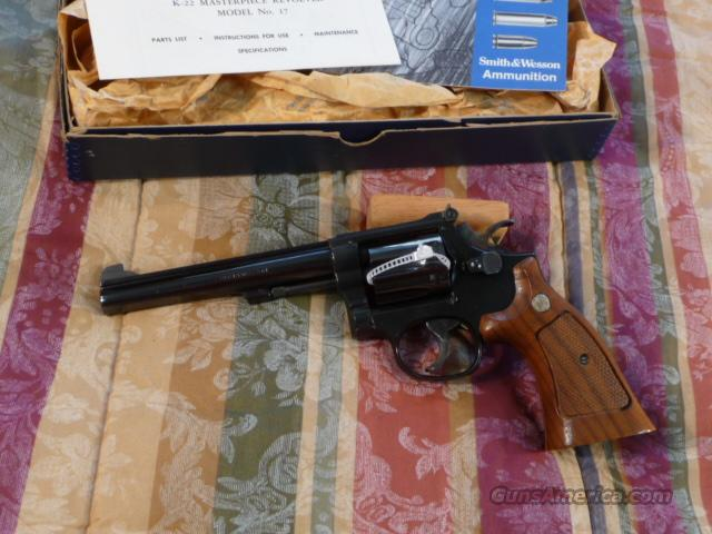 "Smith & Wesson Model 17-4, 6"" Like New  Guns > Pistols > Smith & Wesson Revolvers > Full Frame Revolver"