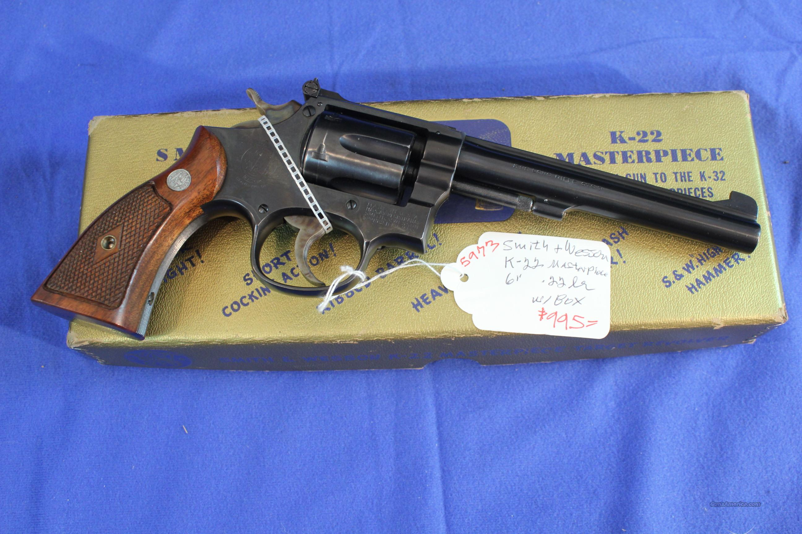 Smith & Wesson Pre-17 K Masterpiece .22lr  Guns > Pistols > Smith & Wesson Revolvers > Full Frame Revolver