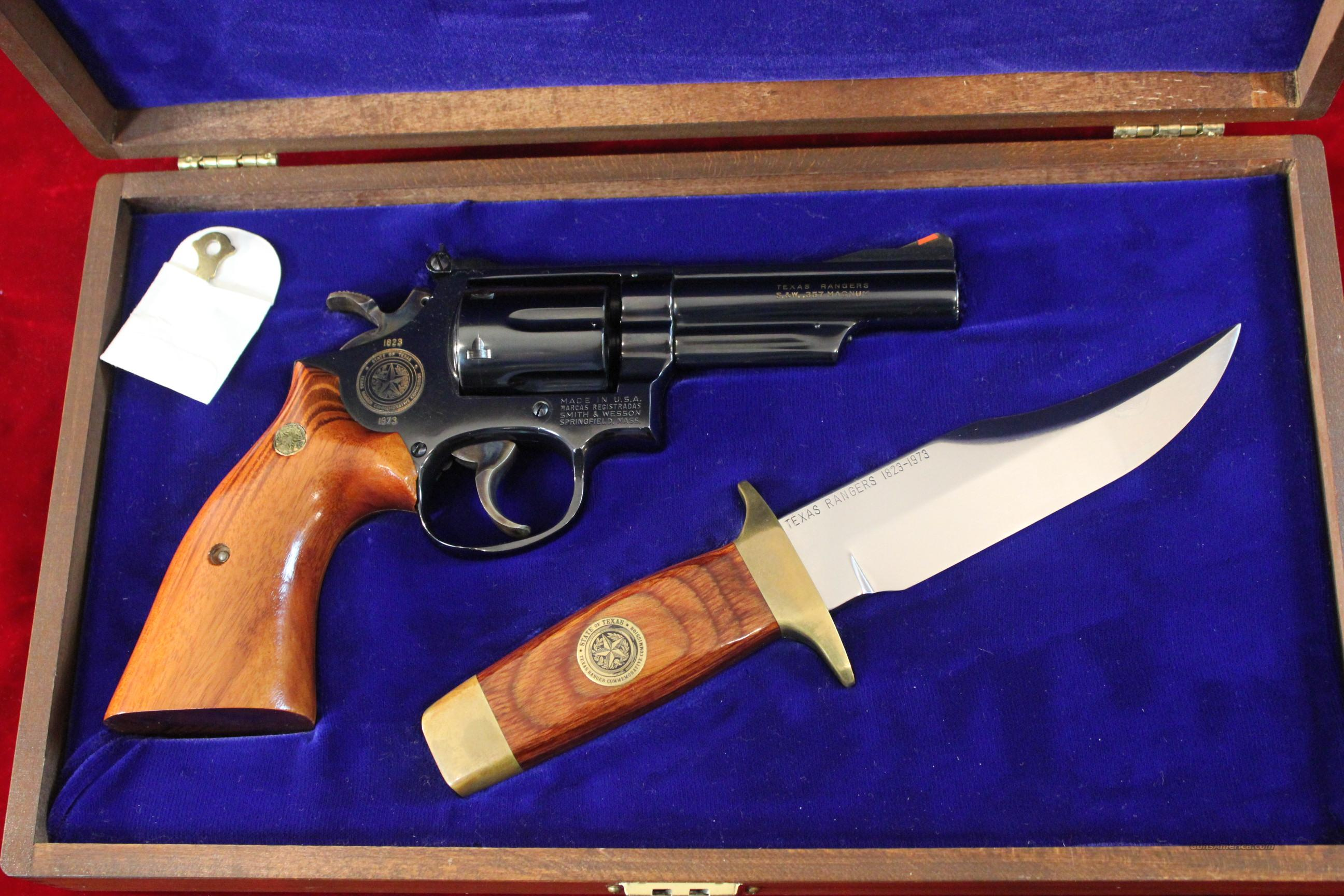 Smith & Wesson Texas Ranger Commemorative w/Knife & Case  Guns > Pistols > Smith & Wesson Revolvers > Full Frame Revolver