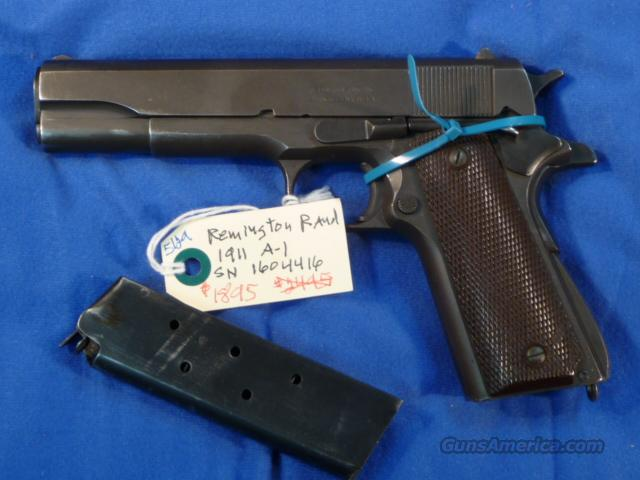 Colt Remington Rand 1911A1  Guns > Pistols > Colt Automatic Pistols (1911 & Var)