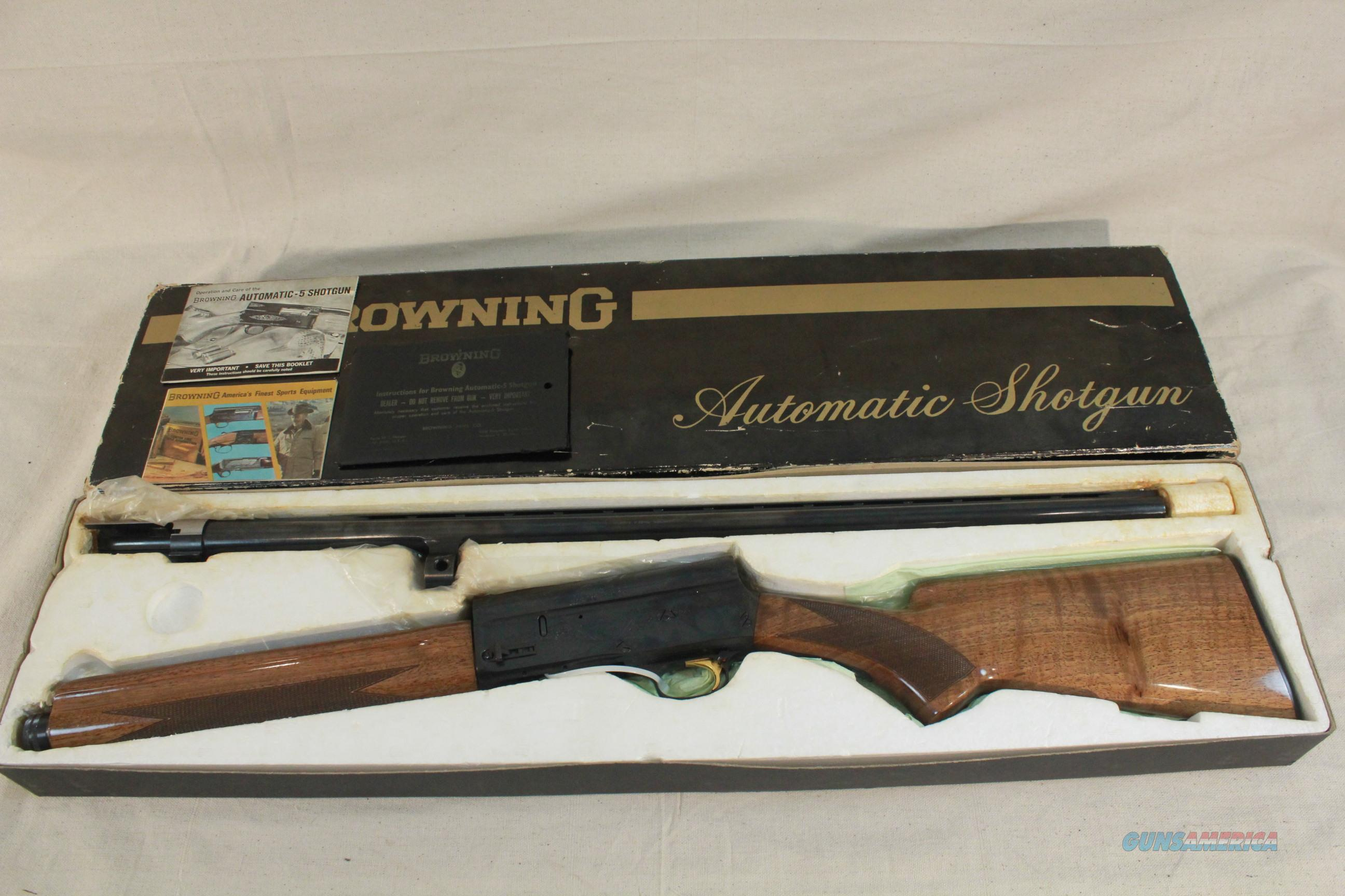 "Belgium Browning Auto-5 12 Gauge, 27-1/2"" Mod. VR, Unfired and NIB  Guns > Shotguns > Browning Shotguns > Autoloaders > Hunting"