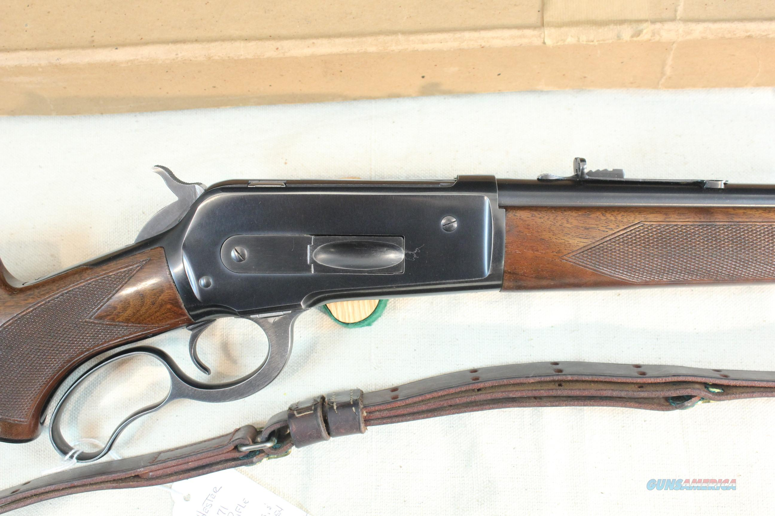 Winchester Model 71 Deluxe, .348 Winchester with original box 1954 vintage  Guns > Rifles > Winchester Rifles - Modern Lever > Other Lever > Pre-64