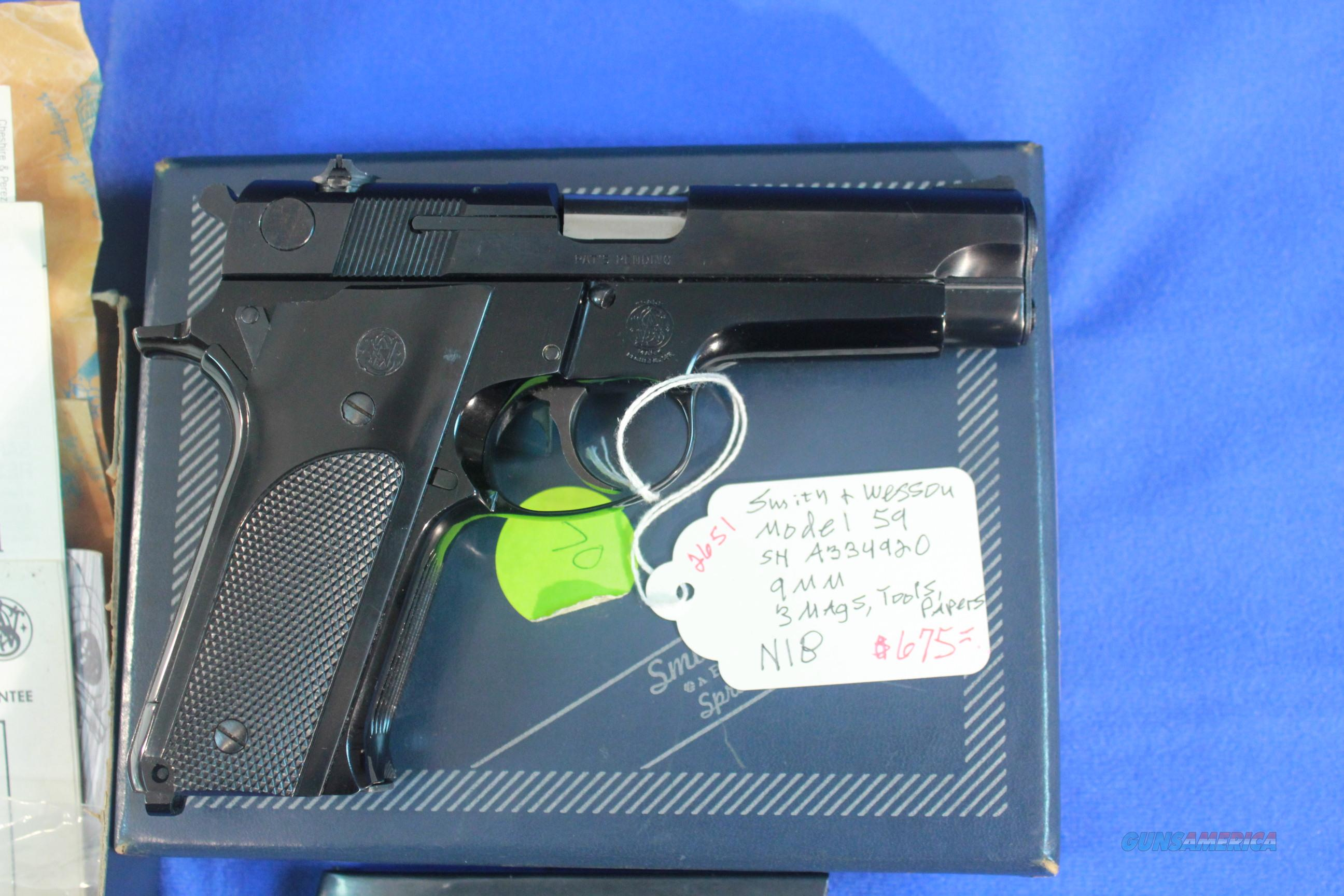 Smith & Wesson Model 59 - 9mm  Guns > Pistols > Smith & Wesson Pistols - Autos > Alloy Frame
