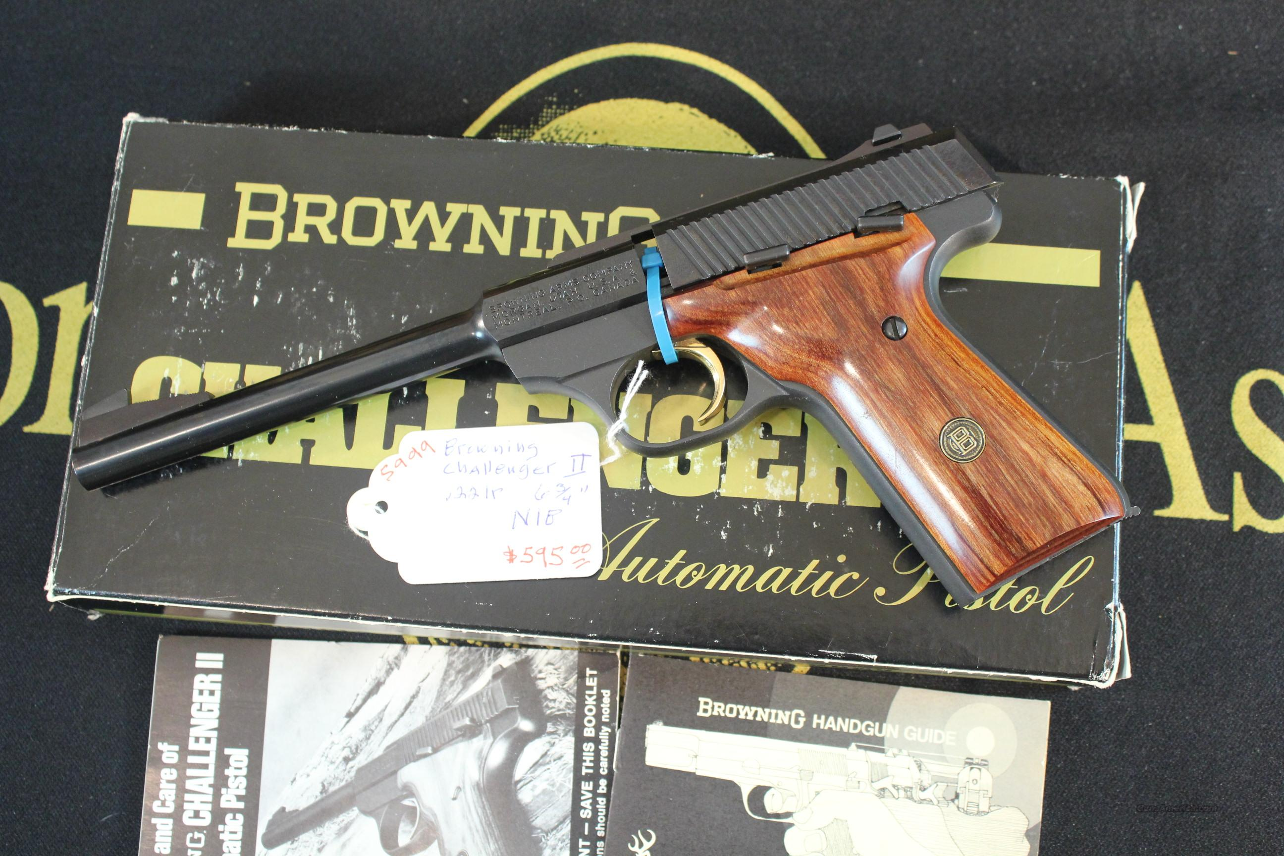 "Browning Challenger II, 6-3/4"", New in Box  Guns > Pistols > Browning Pistols > Other Autos"