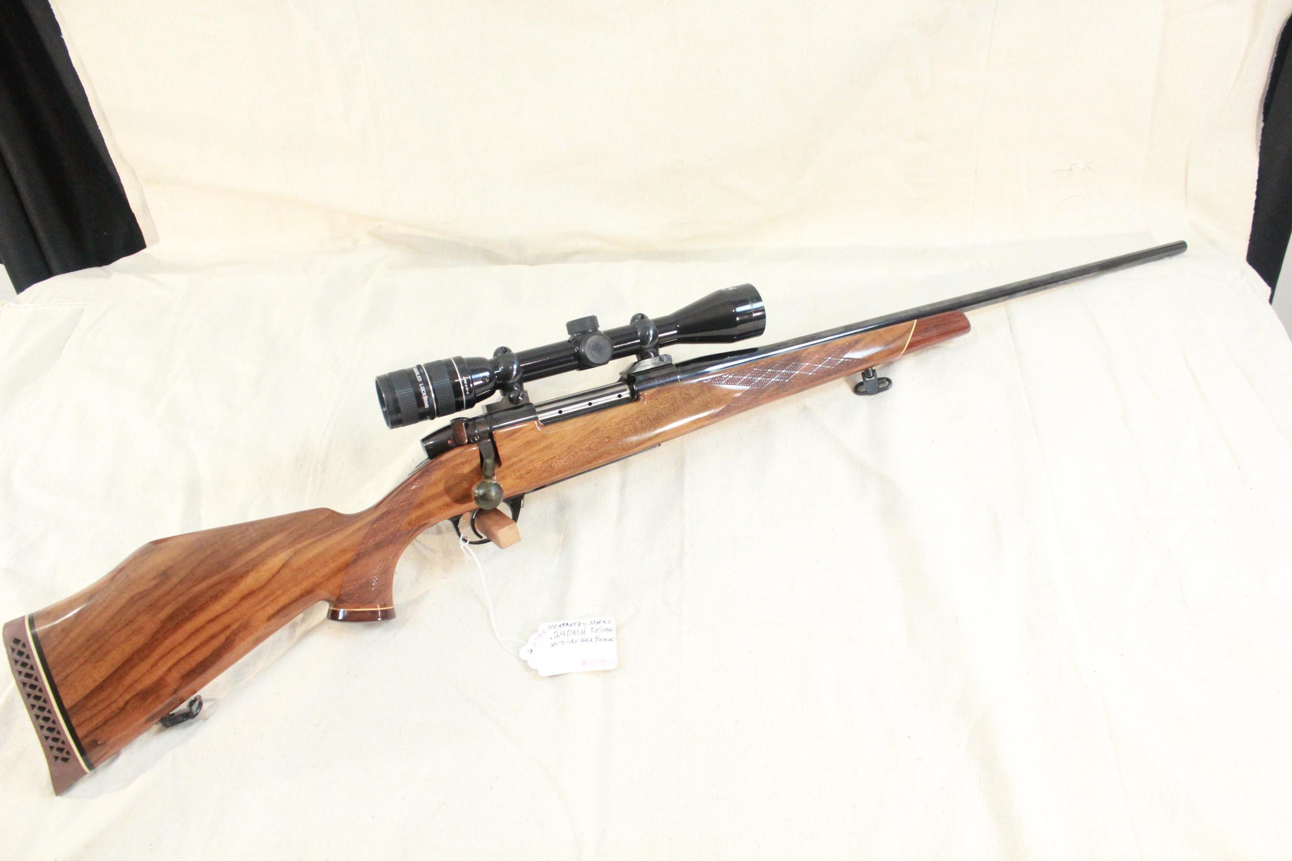 Weatherby Mark V Deluxe in .240 WM w/3-9x Weatherby Premier  Guns > Rifles > Weatherby Rifles > Sporting