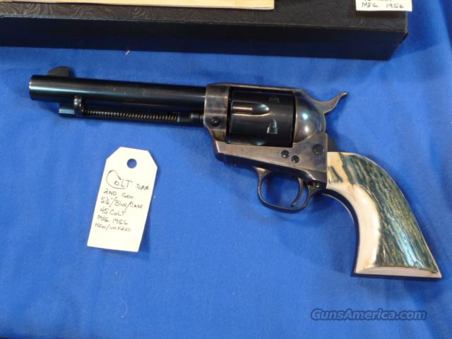 Colt SAA 2nd Generation .45 Colt Mammoth Ivory Like New  Guns > Pistols > Colt Single Action Revolvers - 2nd Gen.