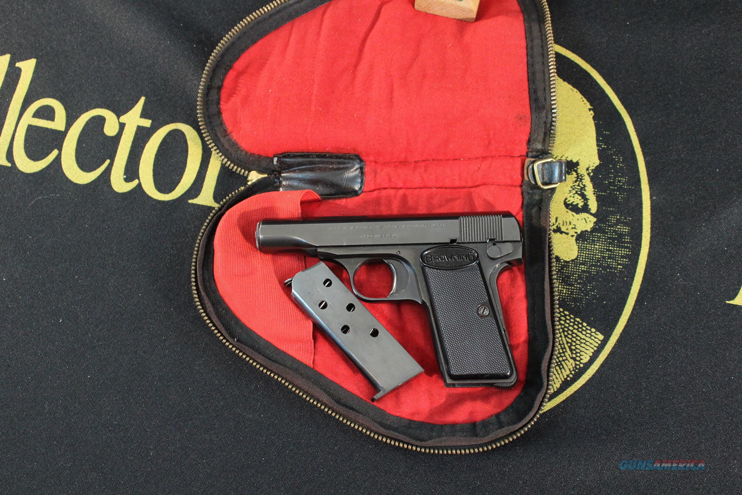 Browning Model 1955 Pocket Auto in .380 acp, with pouch  Guns > Pistols > Browning Pistols > Other Autos