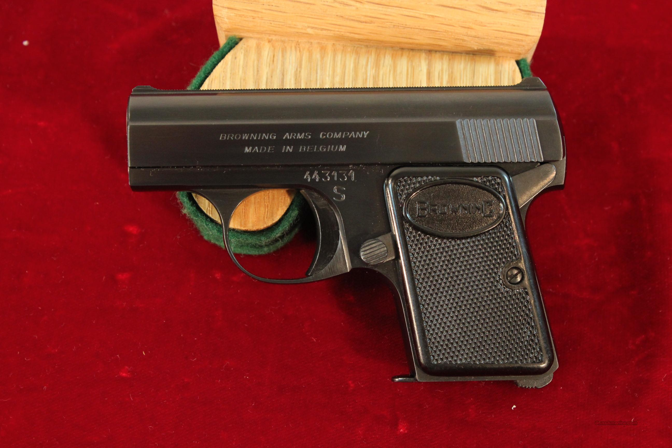 Browning Baby .25acp blue 1967 Like New  Guns > Pistols > Browning Pistols > Baby Browning