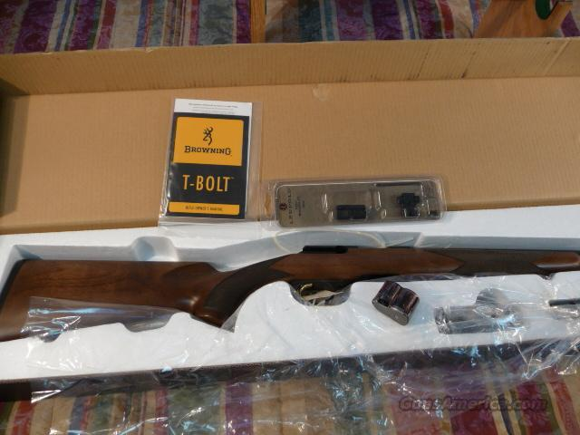 Browning T-Bolt New with mounts  Guns > Rifles > Browning Rifles > Bolt Action > Hunting > Blue